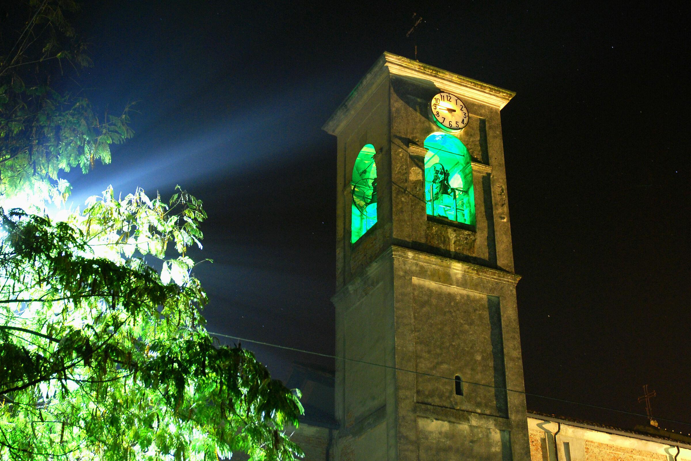Horned bell tower...