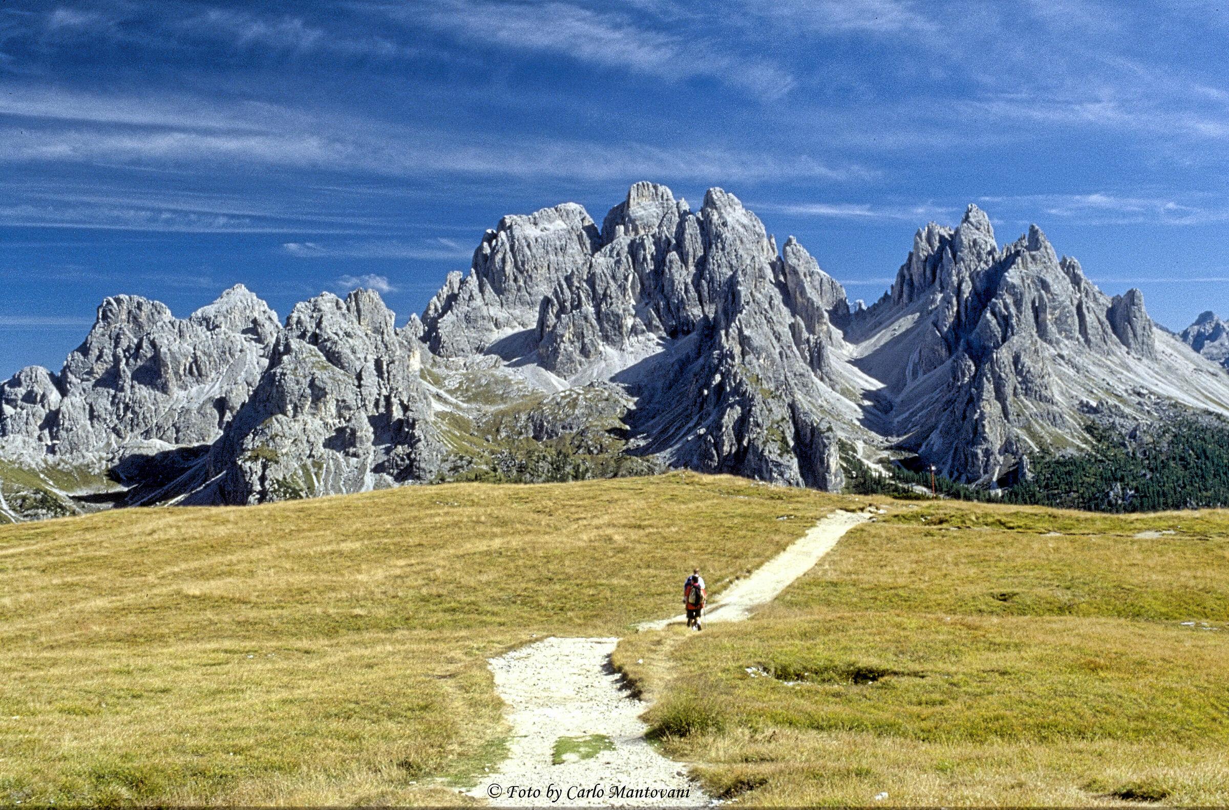 Cadini visti dal monte Piana...
