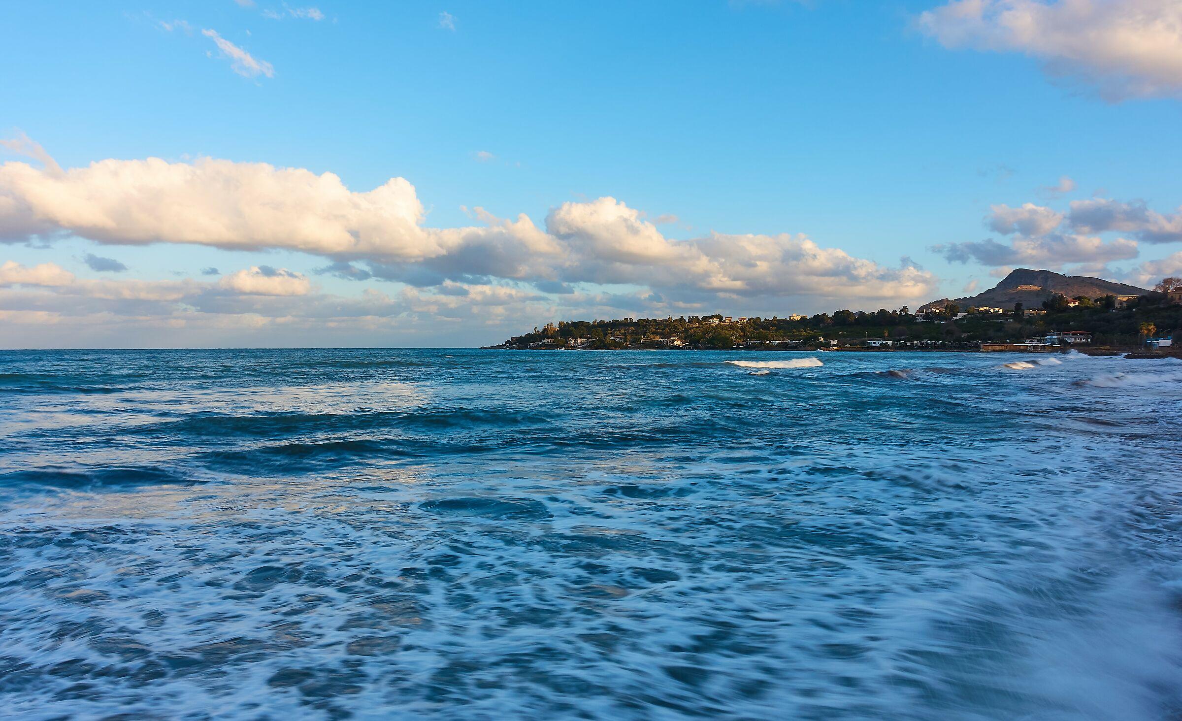 Casteldaccia: tramonto sul golfo...