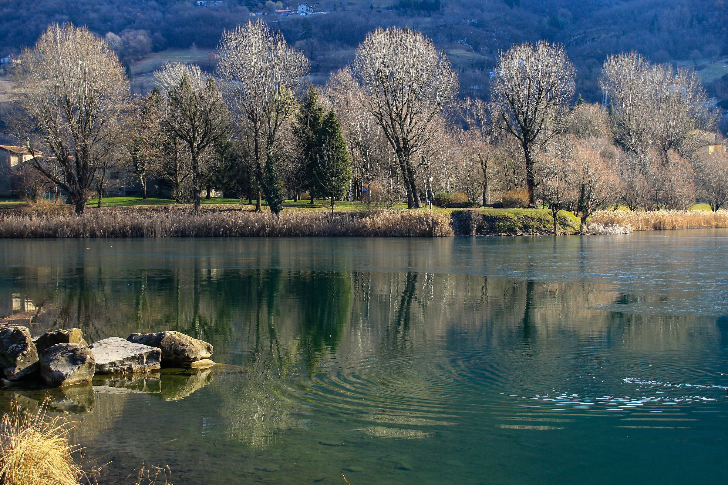 the tranquility of the lake...