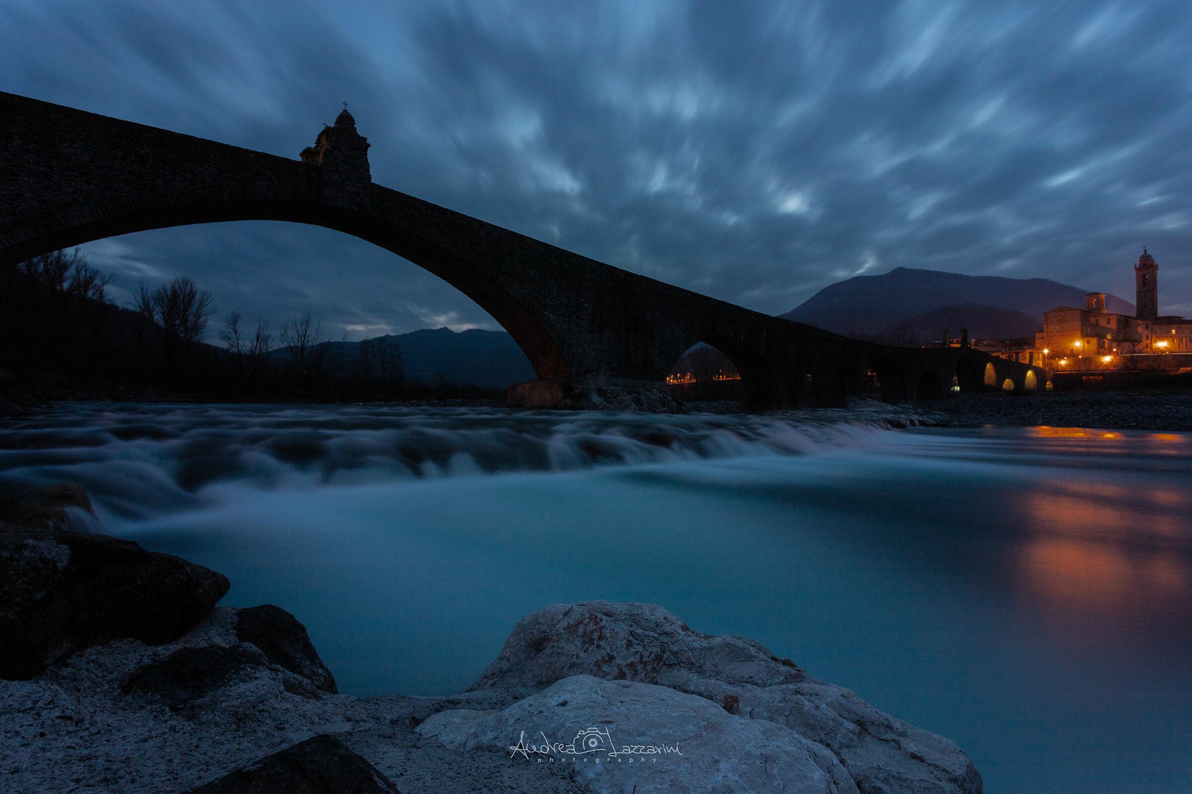 Blue hour on hunchbacked bridge...