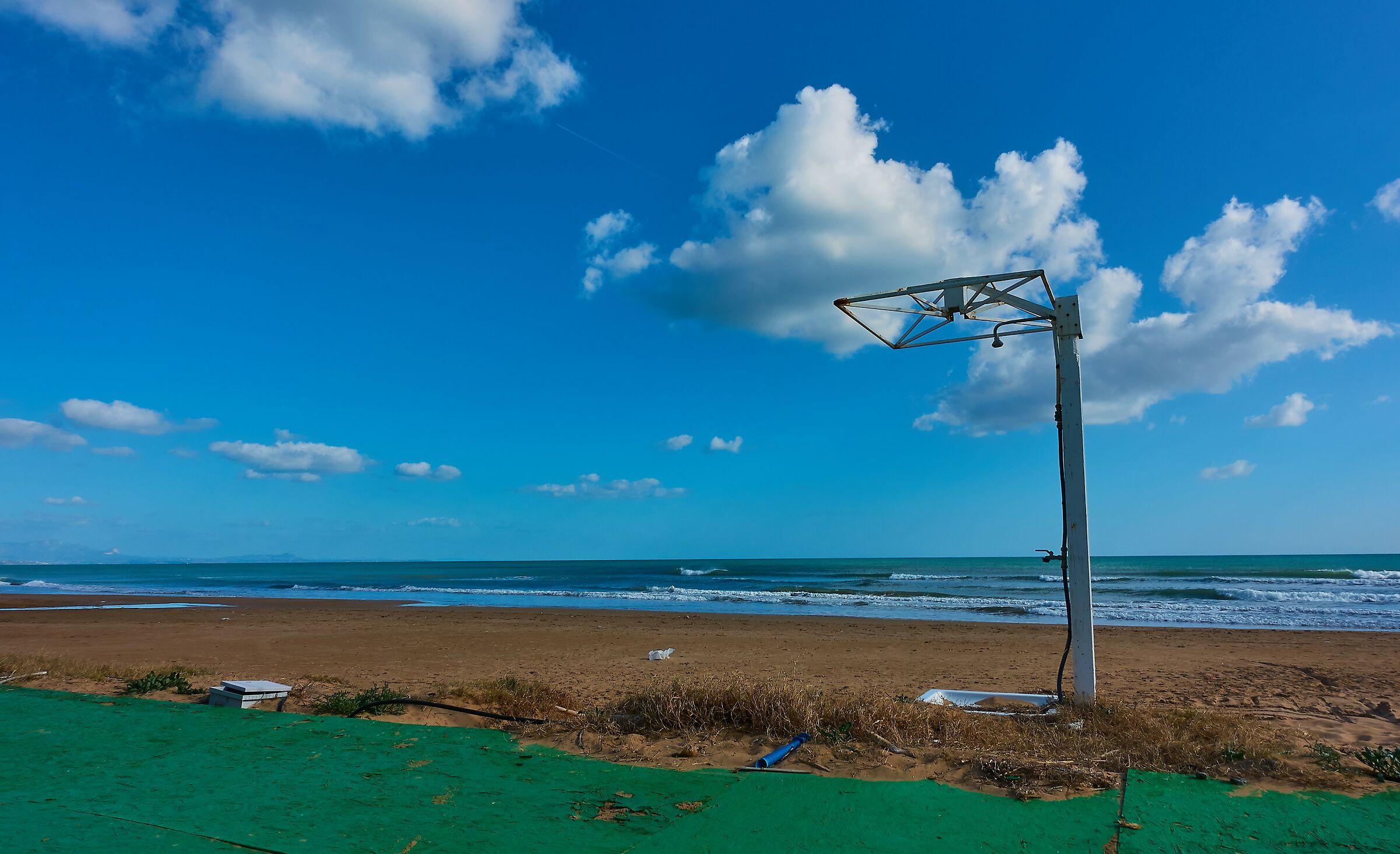 Tre Fontane: la spiaggio d'inverno...