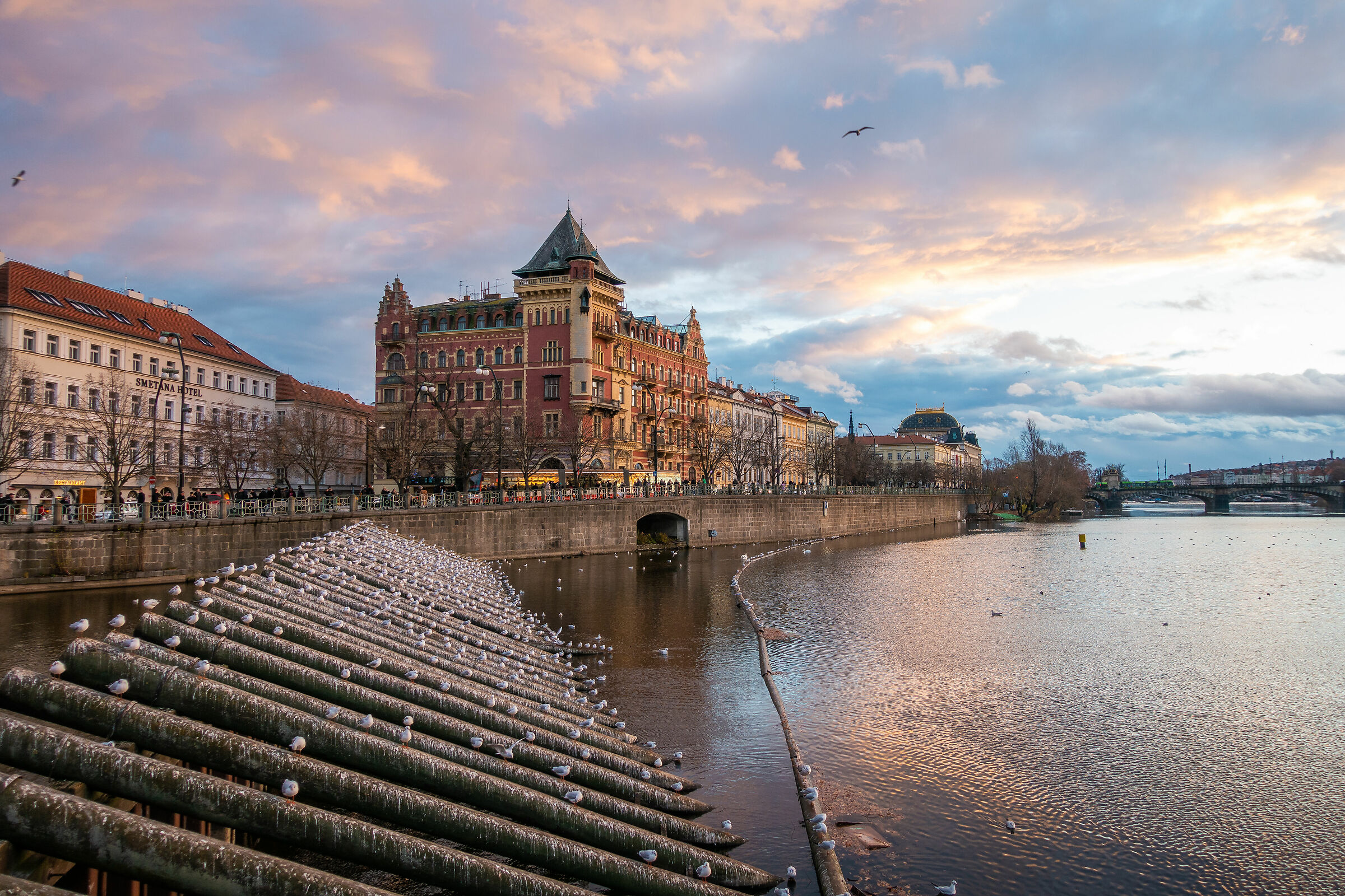 Prague River Moldava...