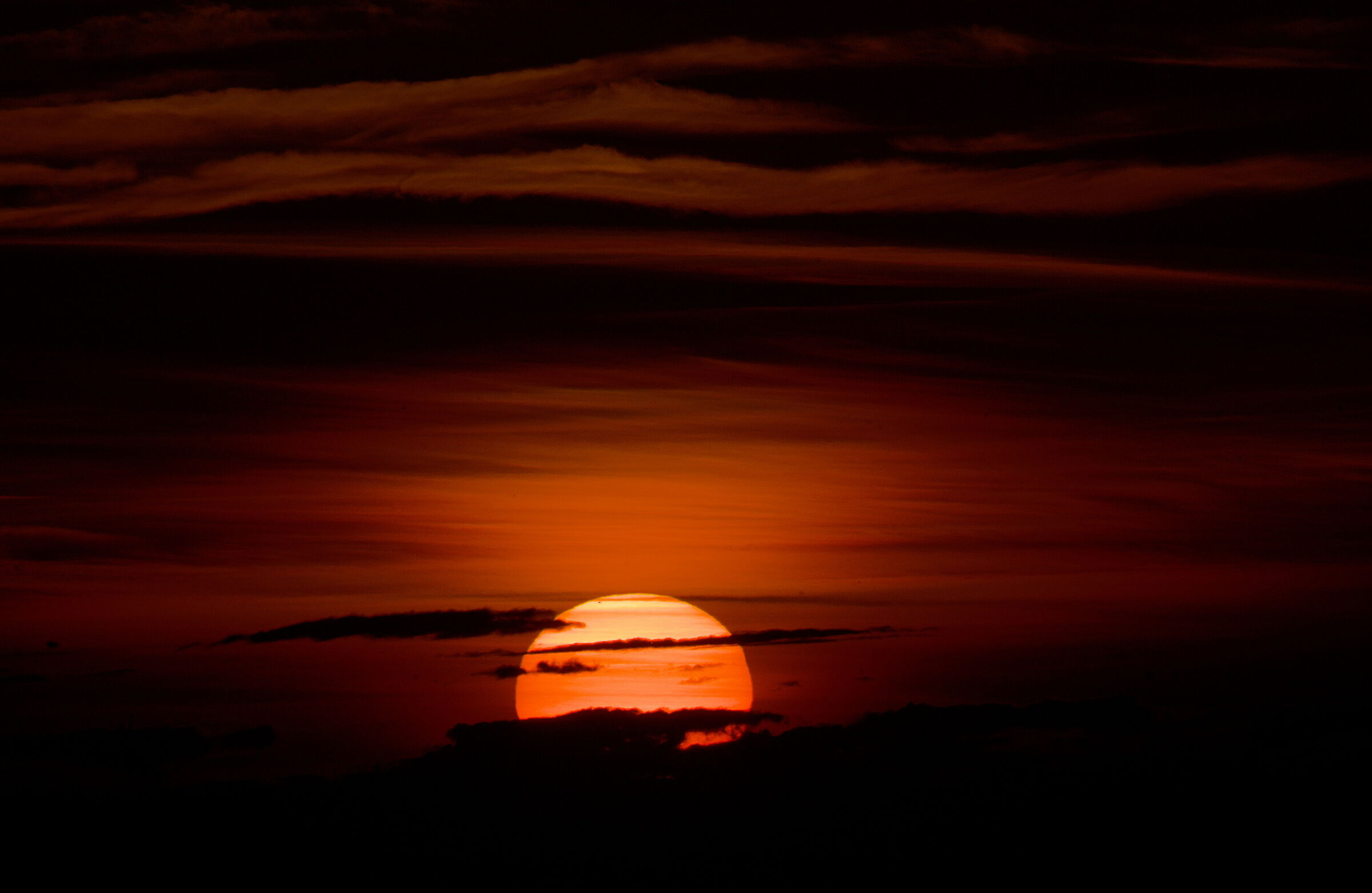 Red in the evening.......