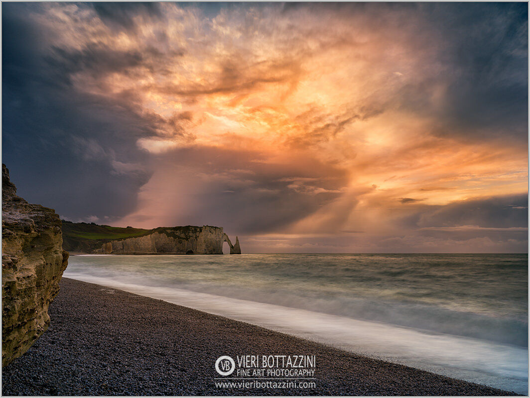 The cliffs of Etretat at sunset...
