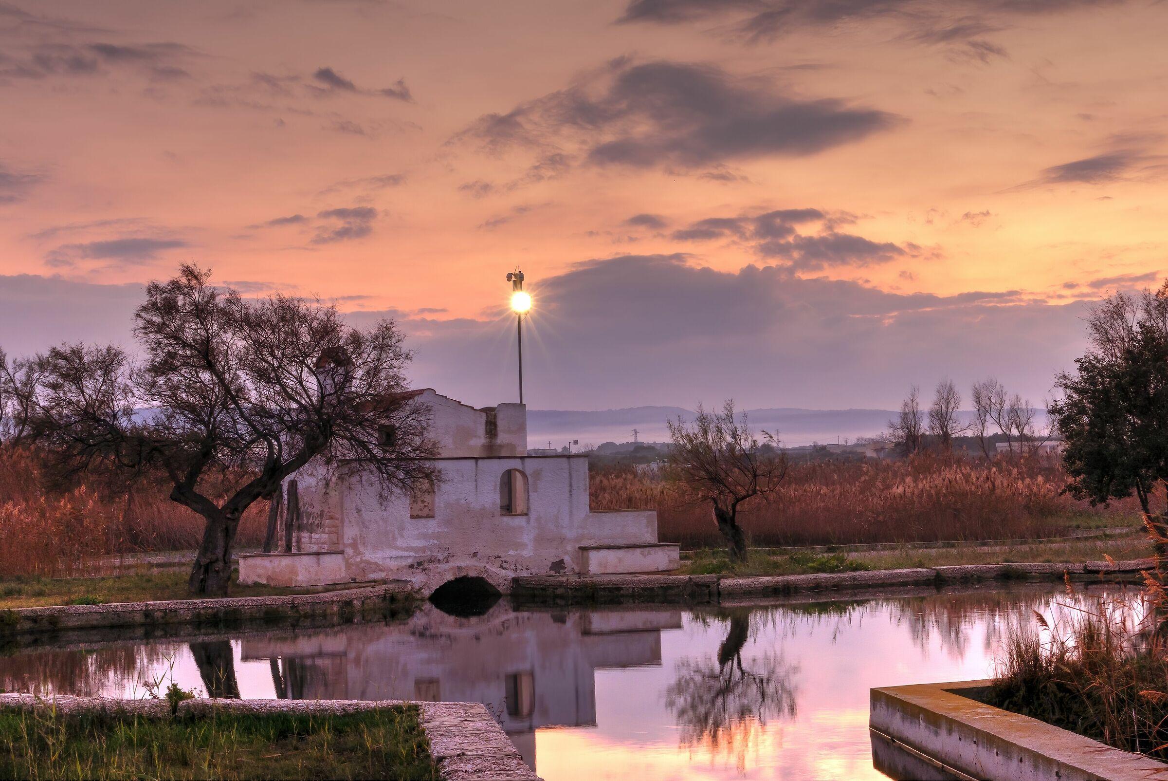 sunset marshes...