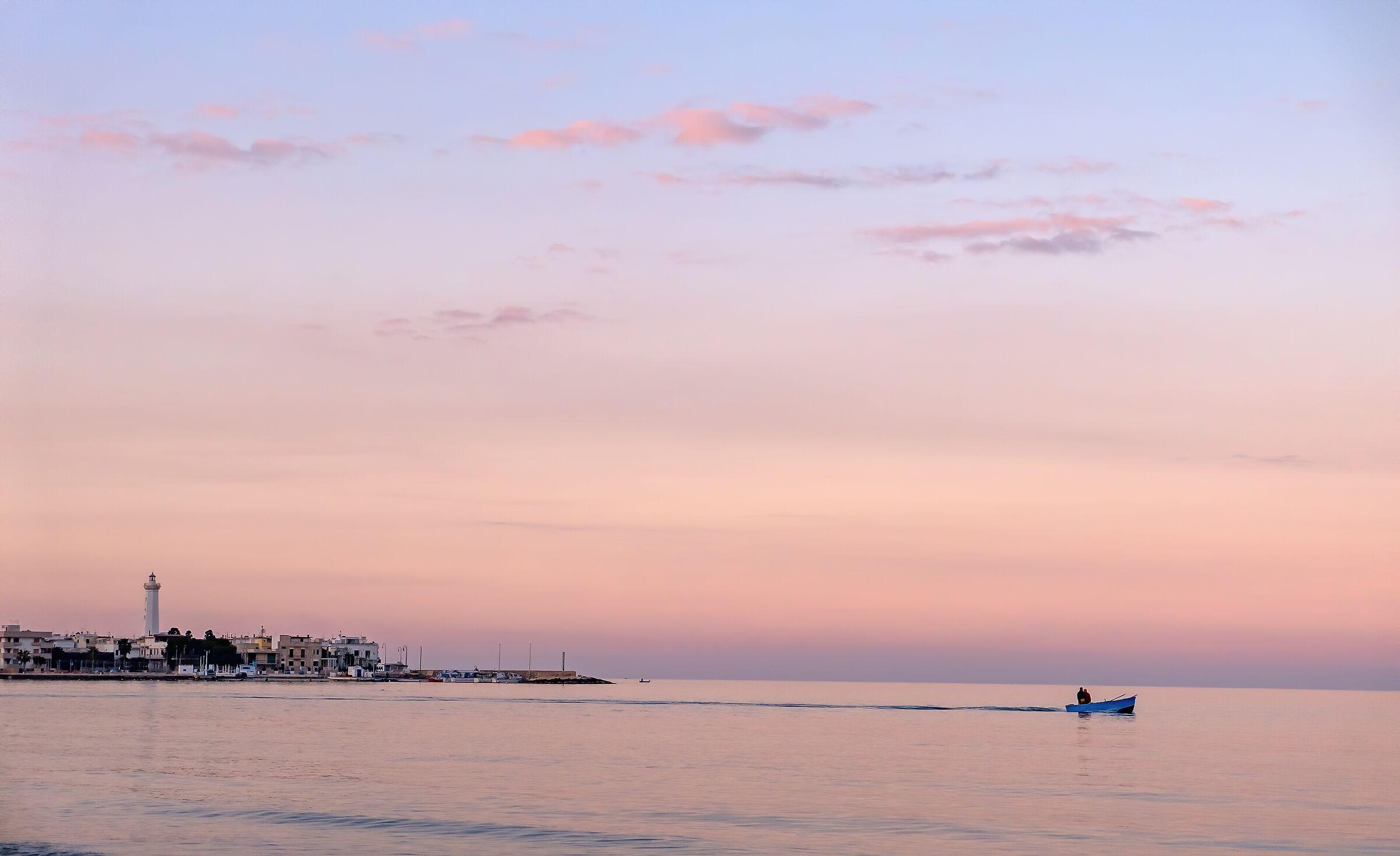 pink sunset...