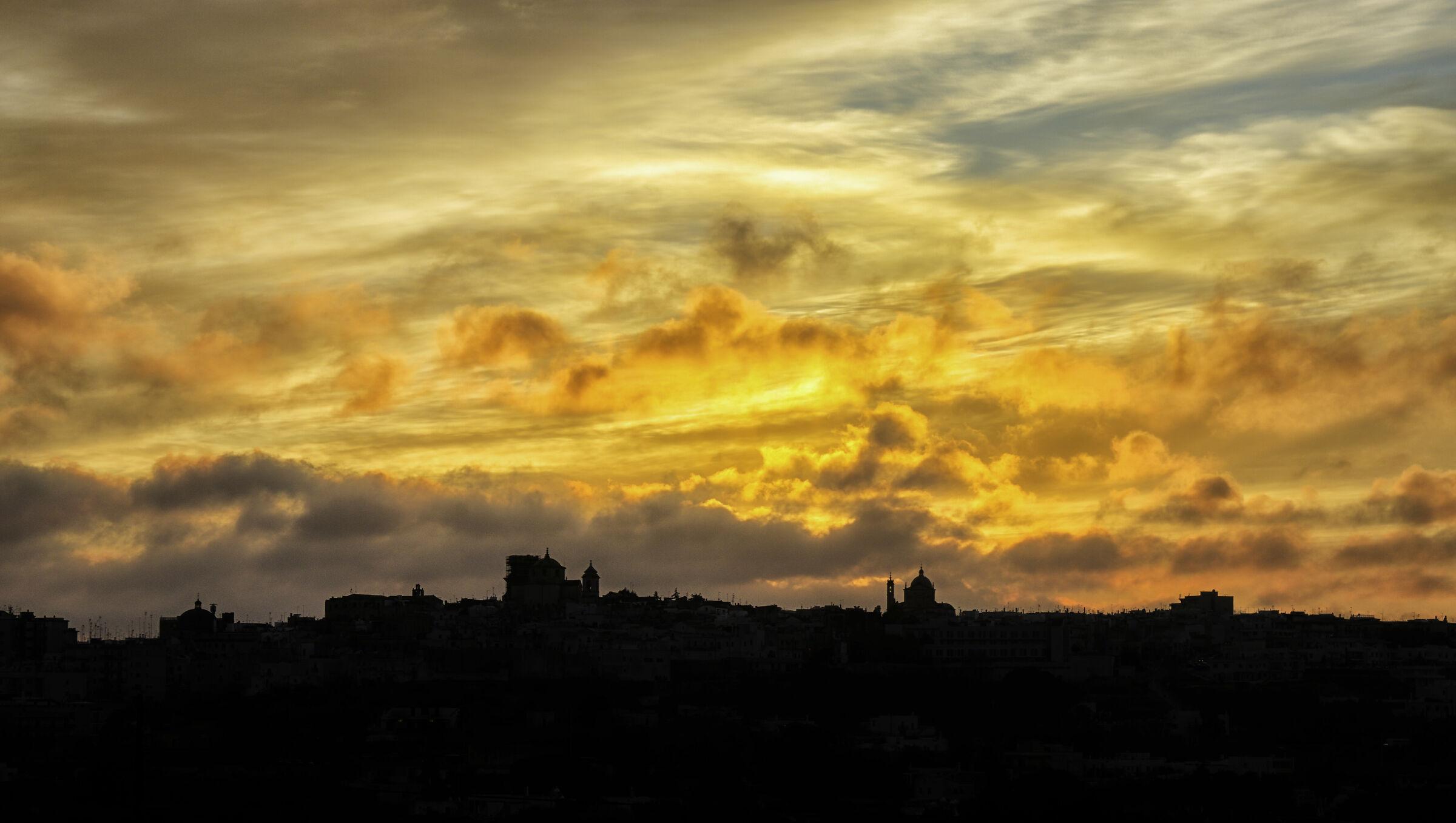Skyline Ceglie Messapica at sunset ...