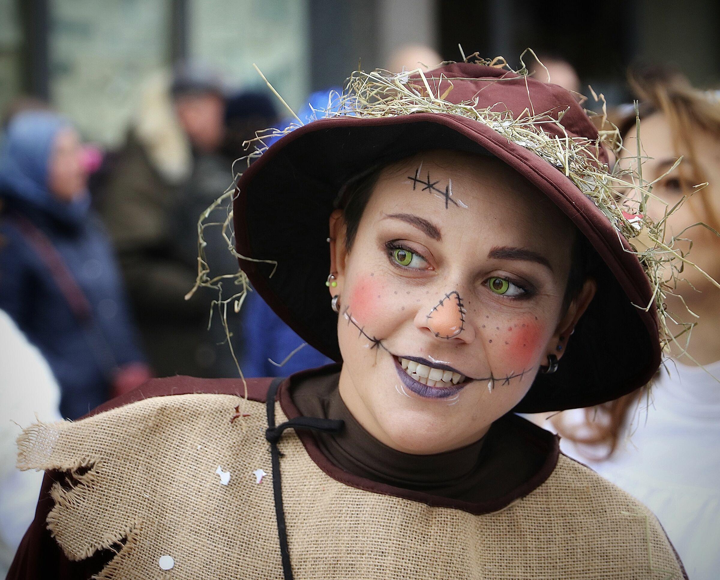 Green eyes, but it's Carnival....