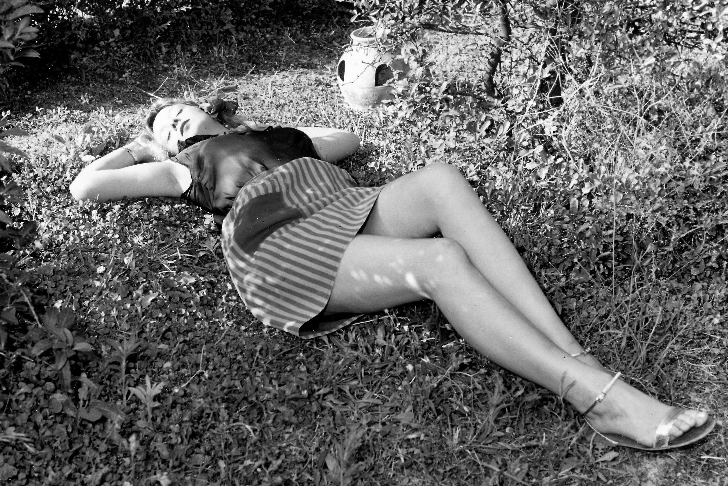 As in a dream, Tina sleeps!...