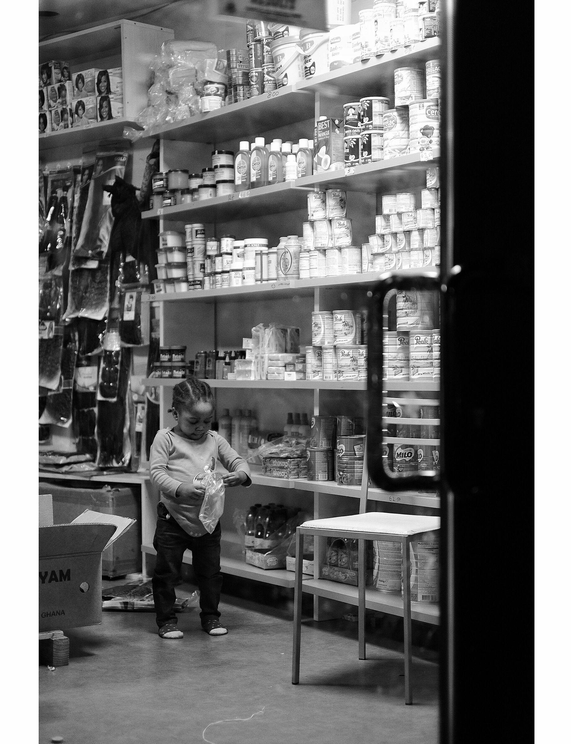 Little saleswoman...