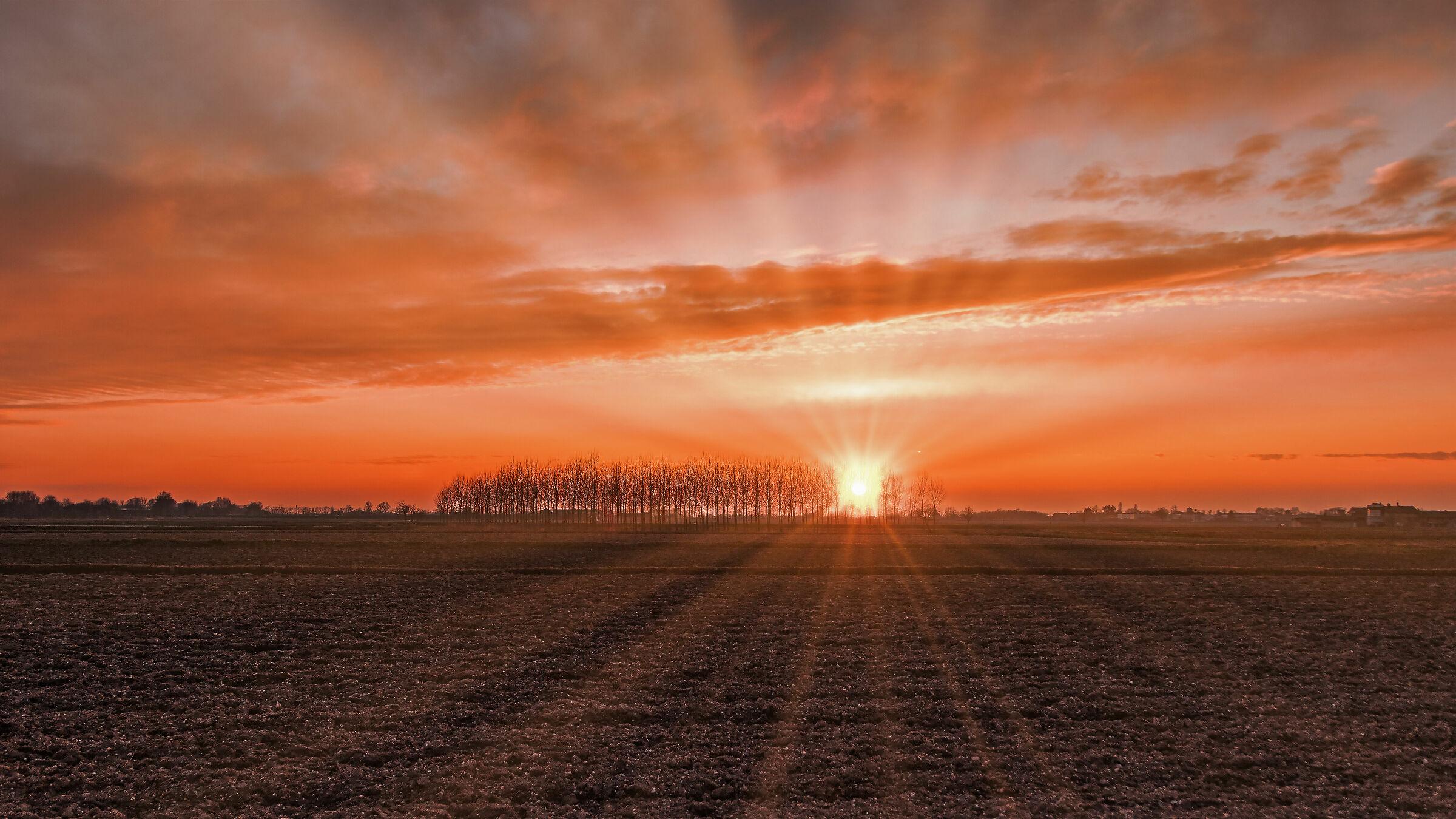 An unusual sunset...