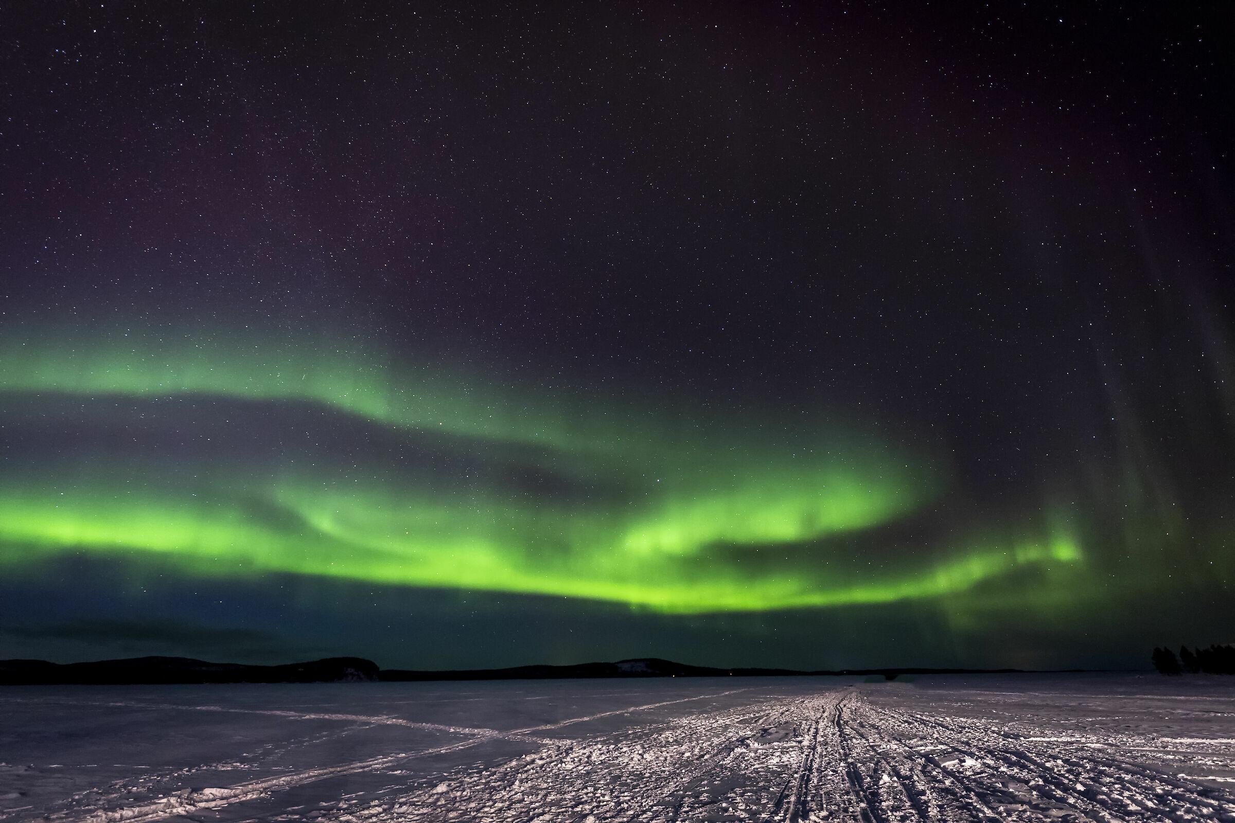 Aurora Borealis on Lake Inari...