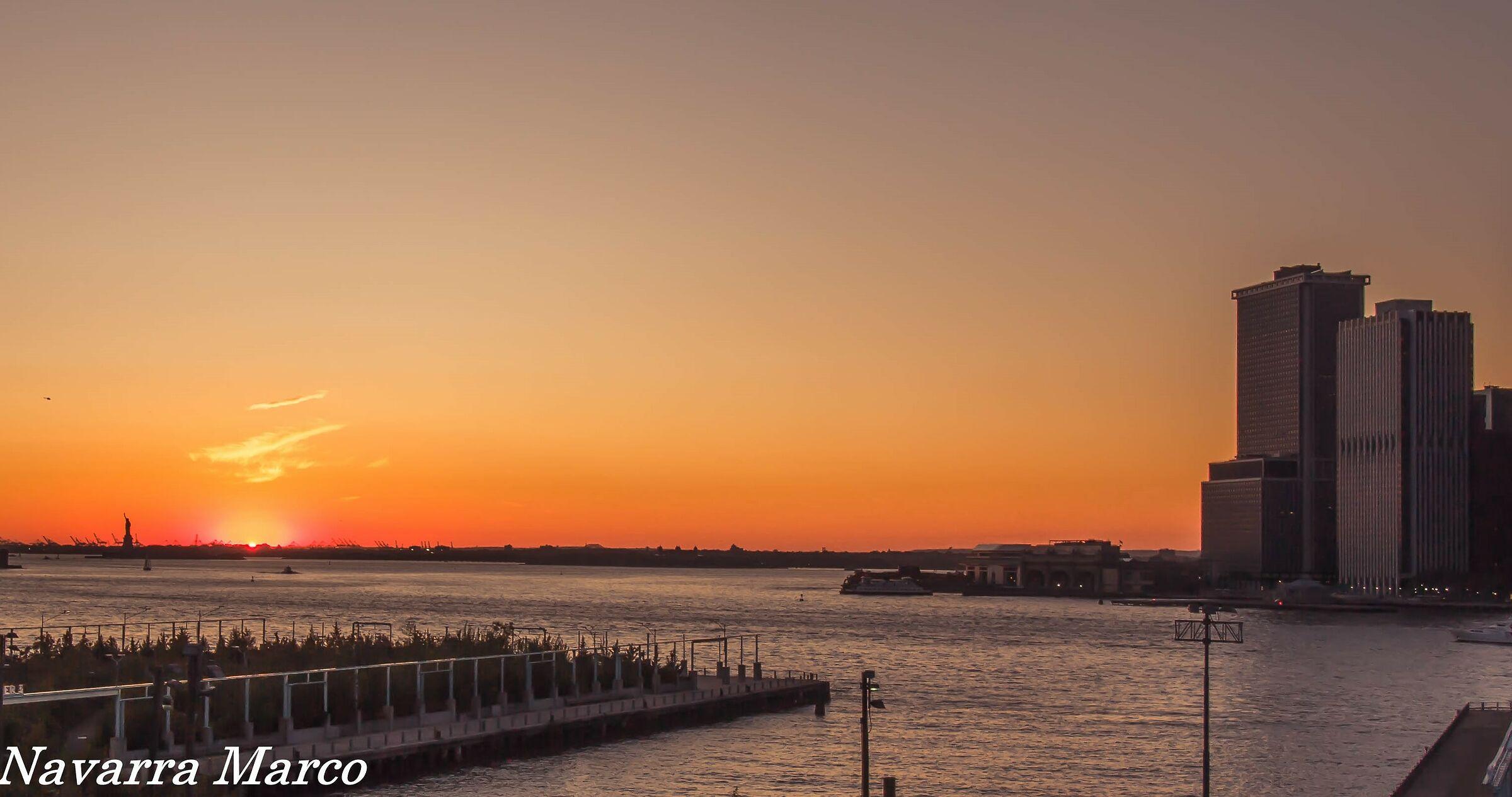 liberty sunset...