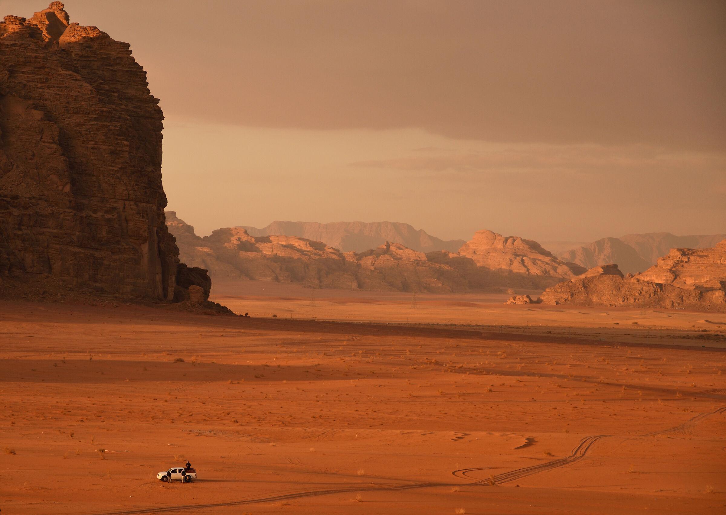 Tramonto sul Wadi Rum...