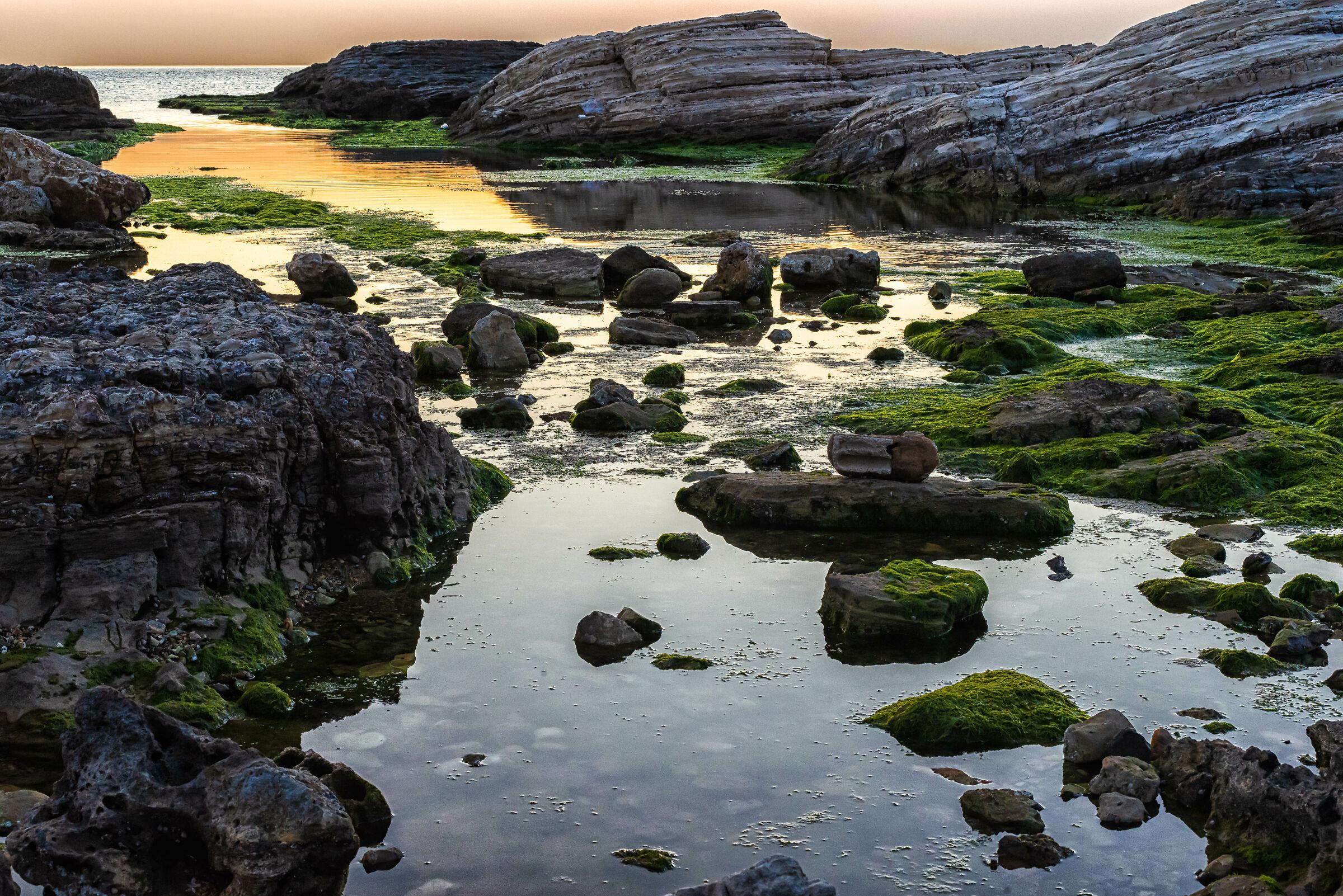 Sunset at Al Raouche Rocks...