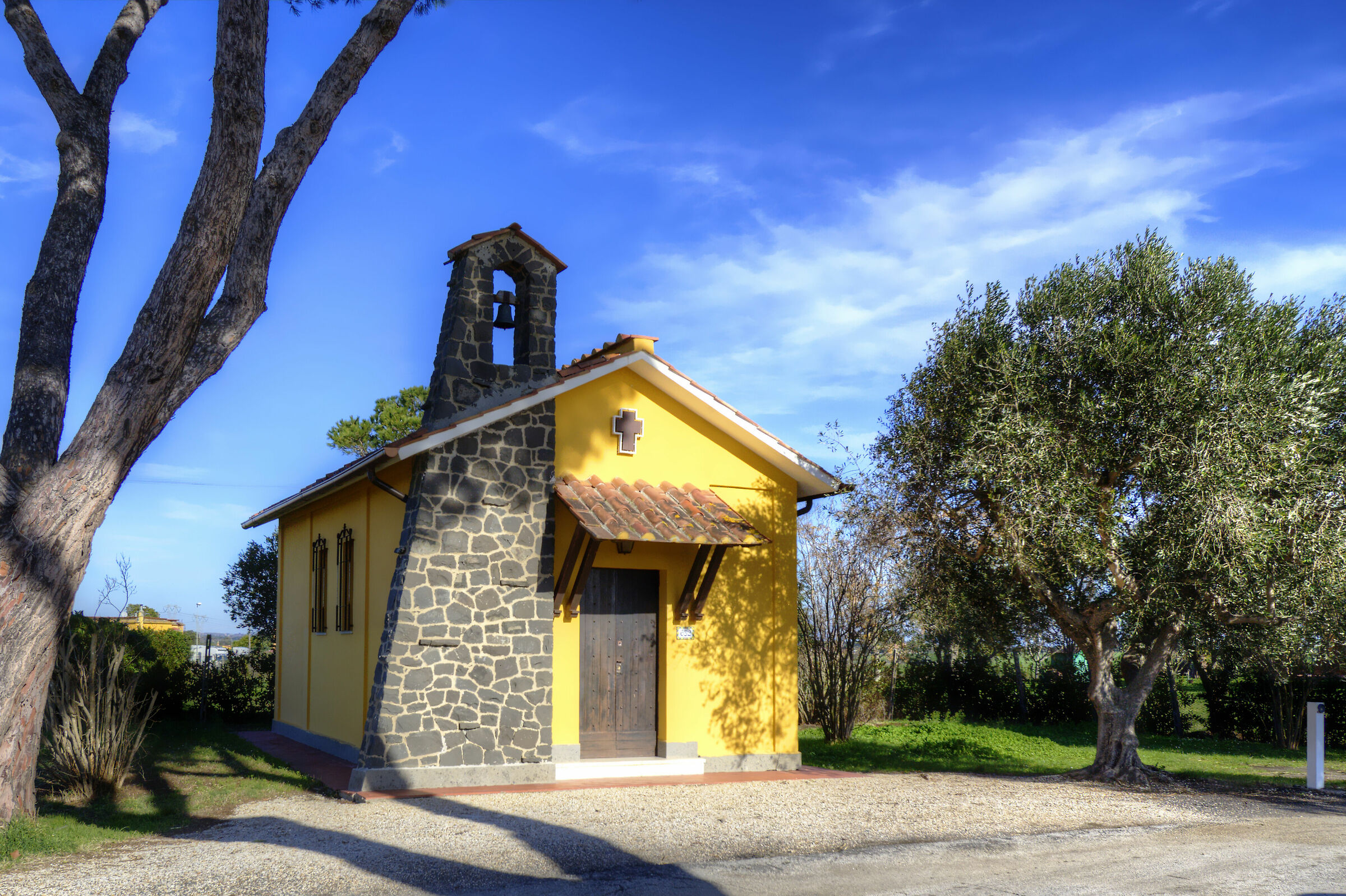 Yellow church......