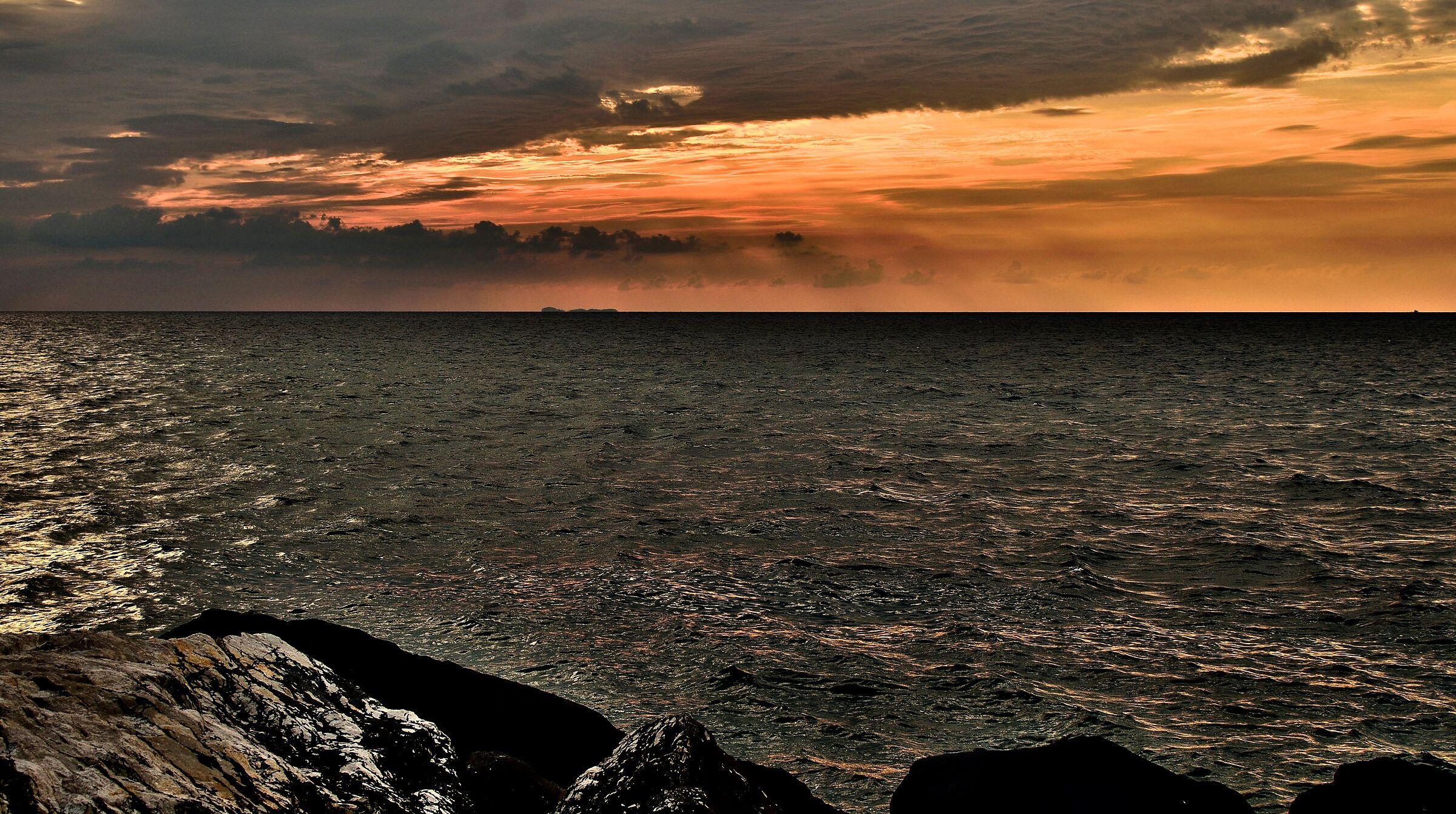 Il tramonto...