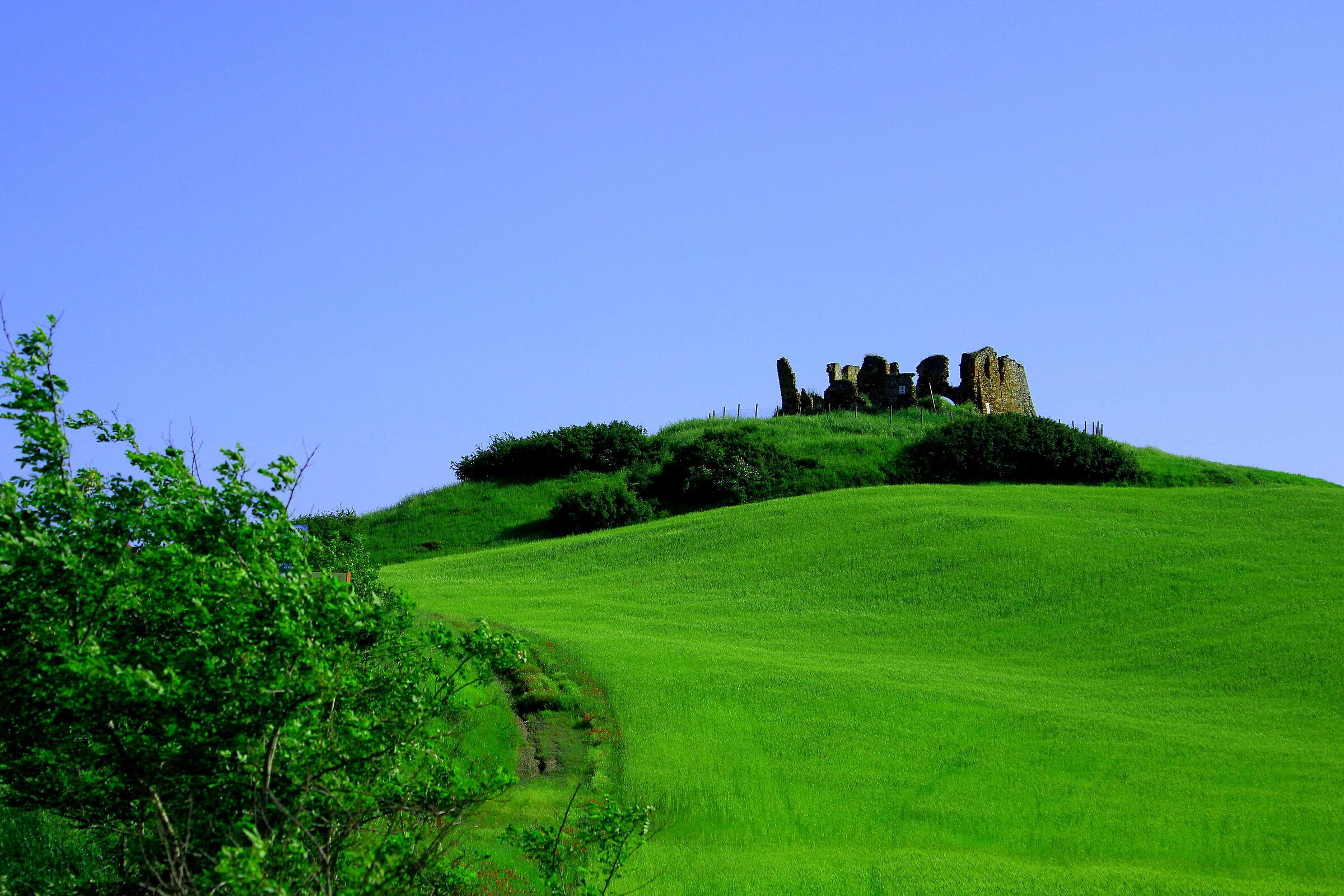 Campagna toscana nei pressi di Volterra...