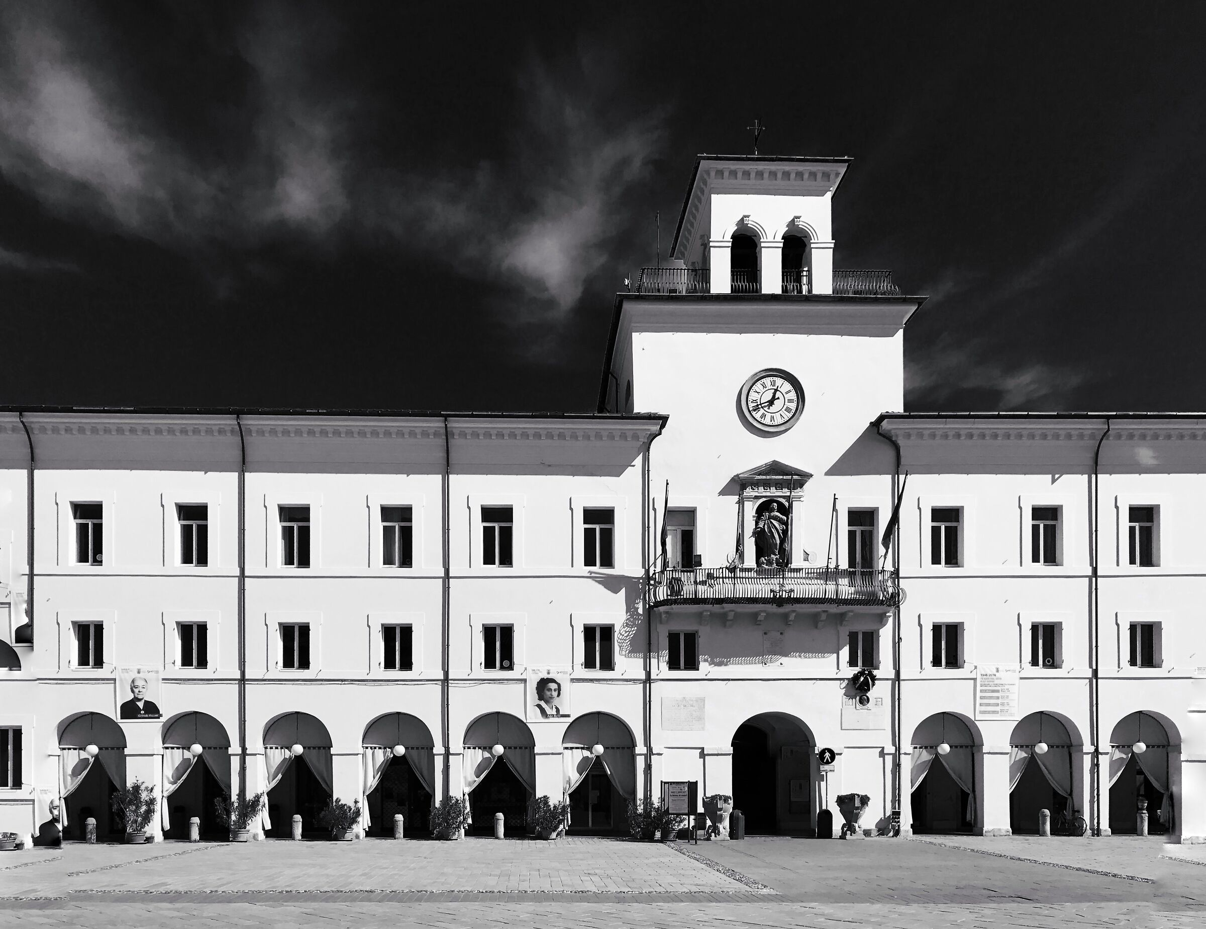 Cervia Square and Town Hall...