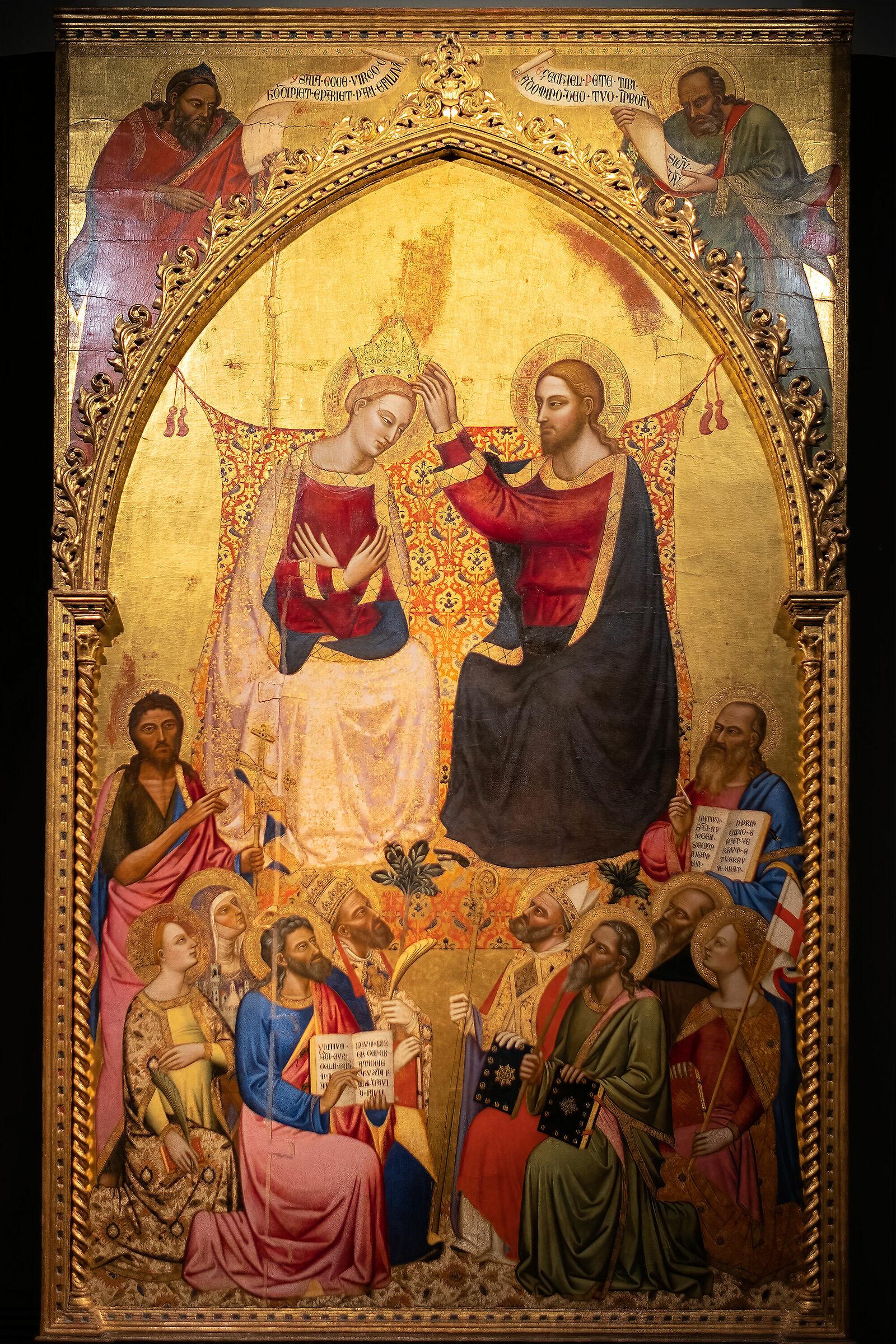 Coronation of the Virgin - Jacopo of Cyon...