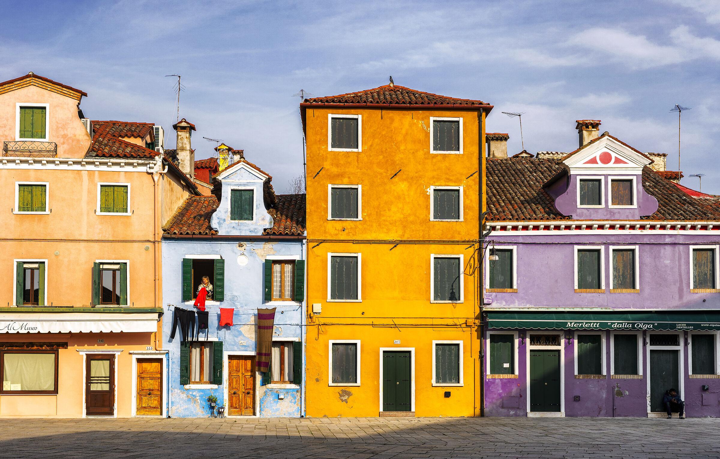 Le case di Burano...