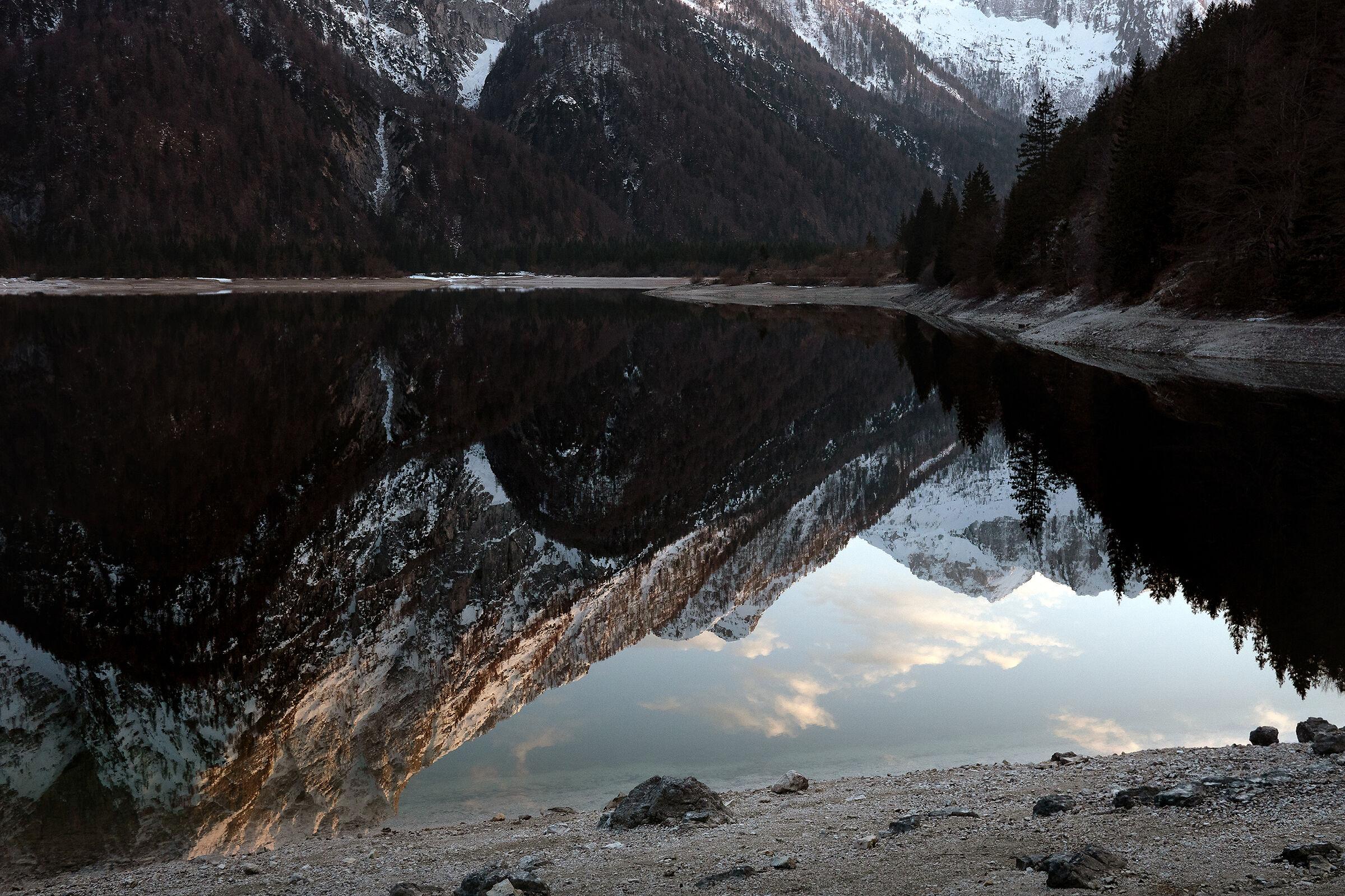 Thaw - Lake Raibil - Julian Alps - Italy...