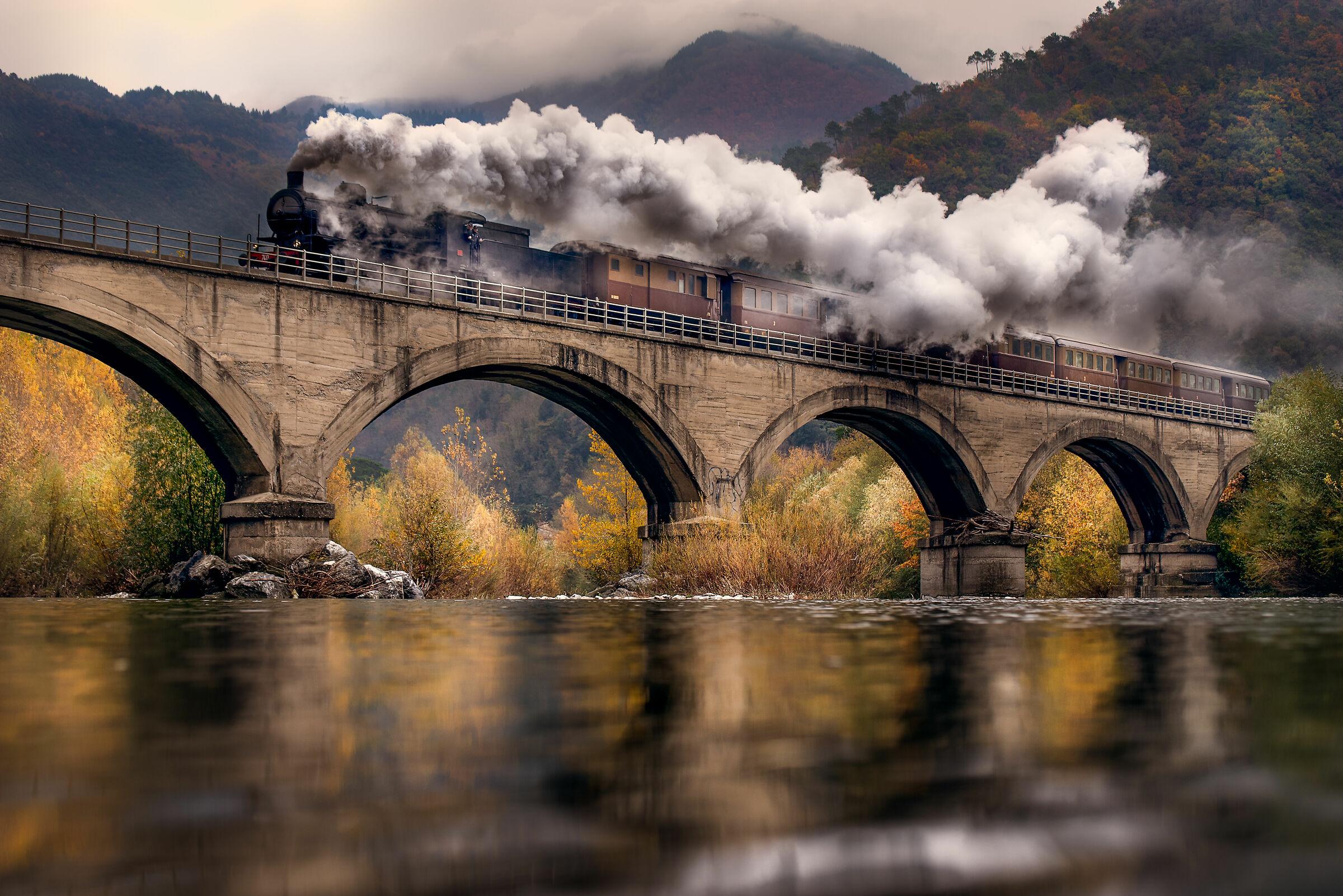 Trenino a vapore della Garfagnana...
