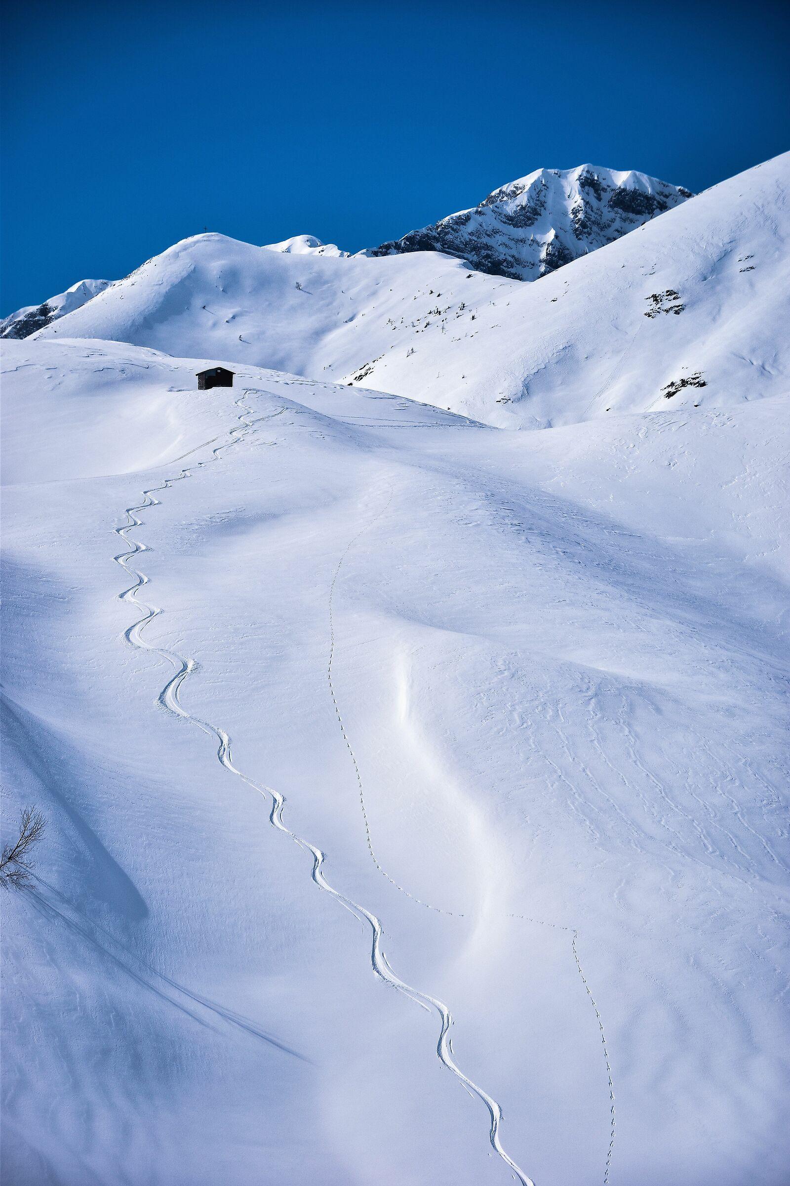 Tracce di alpinisti...