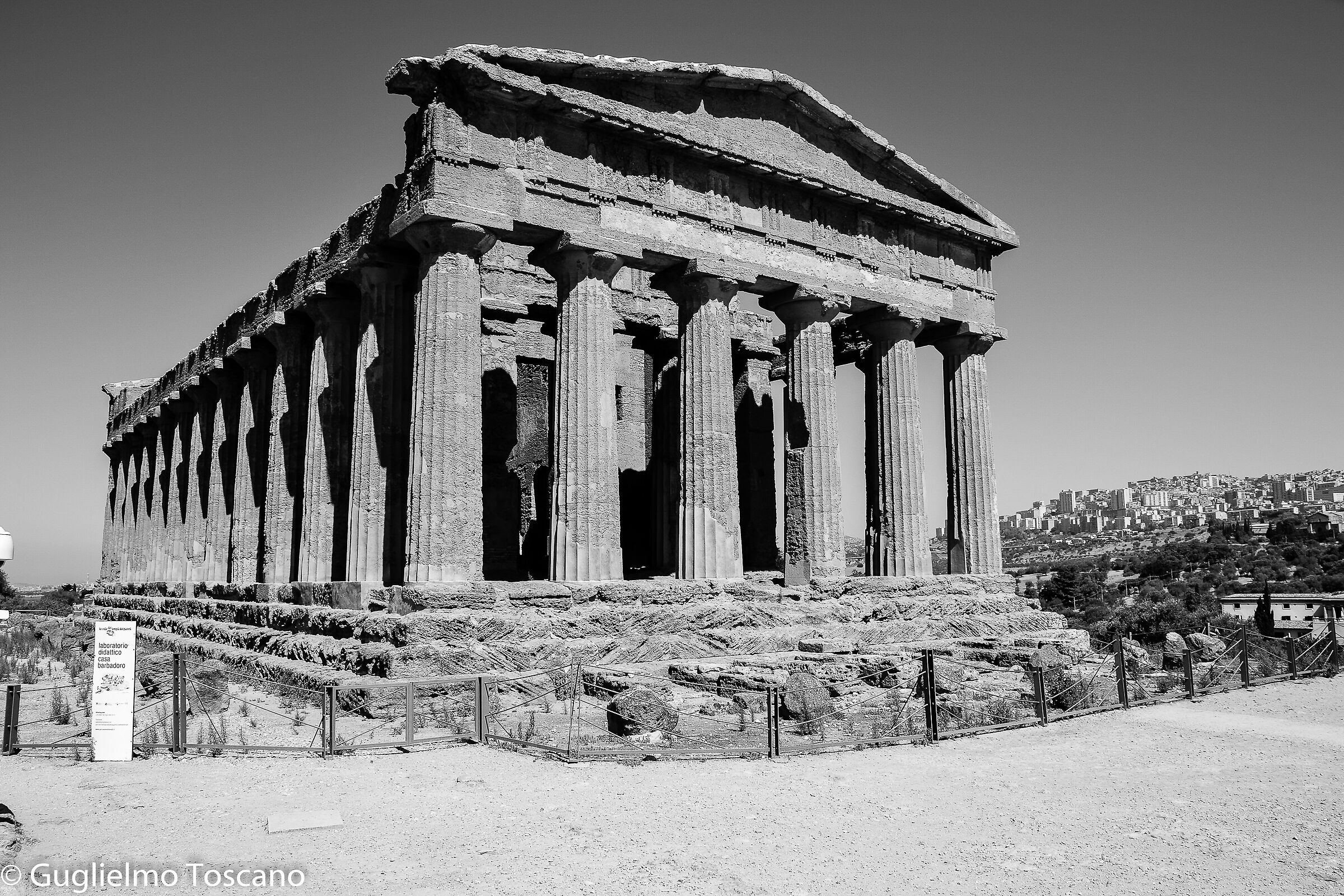 The Temple of Concord, valley of the Agrigento Temples...
