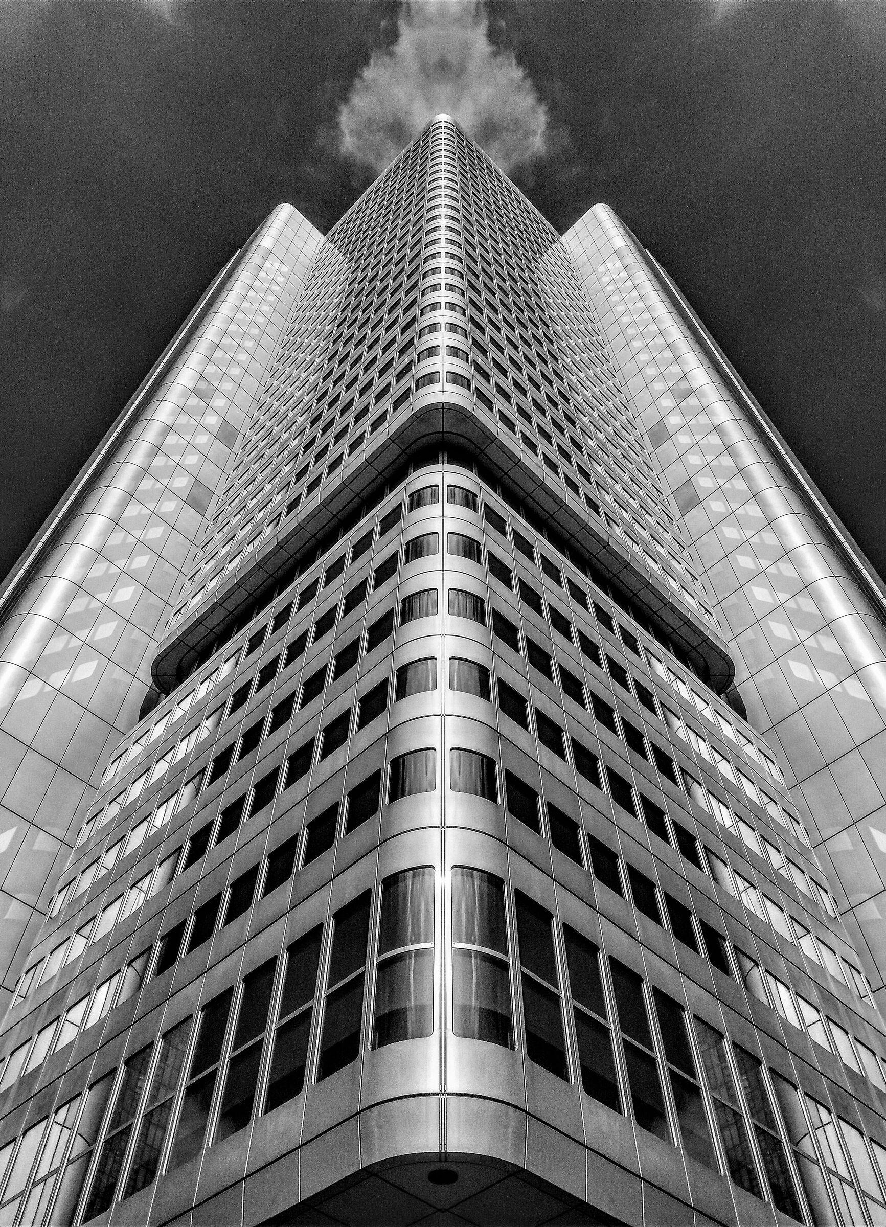 Frankfurt skyscraper in the mirror...