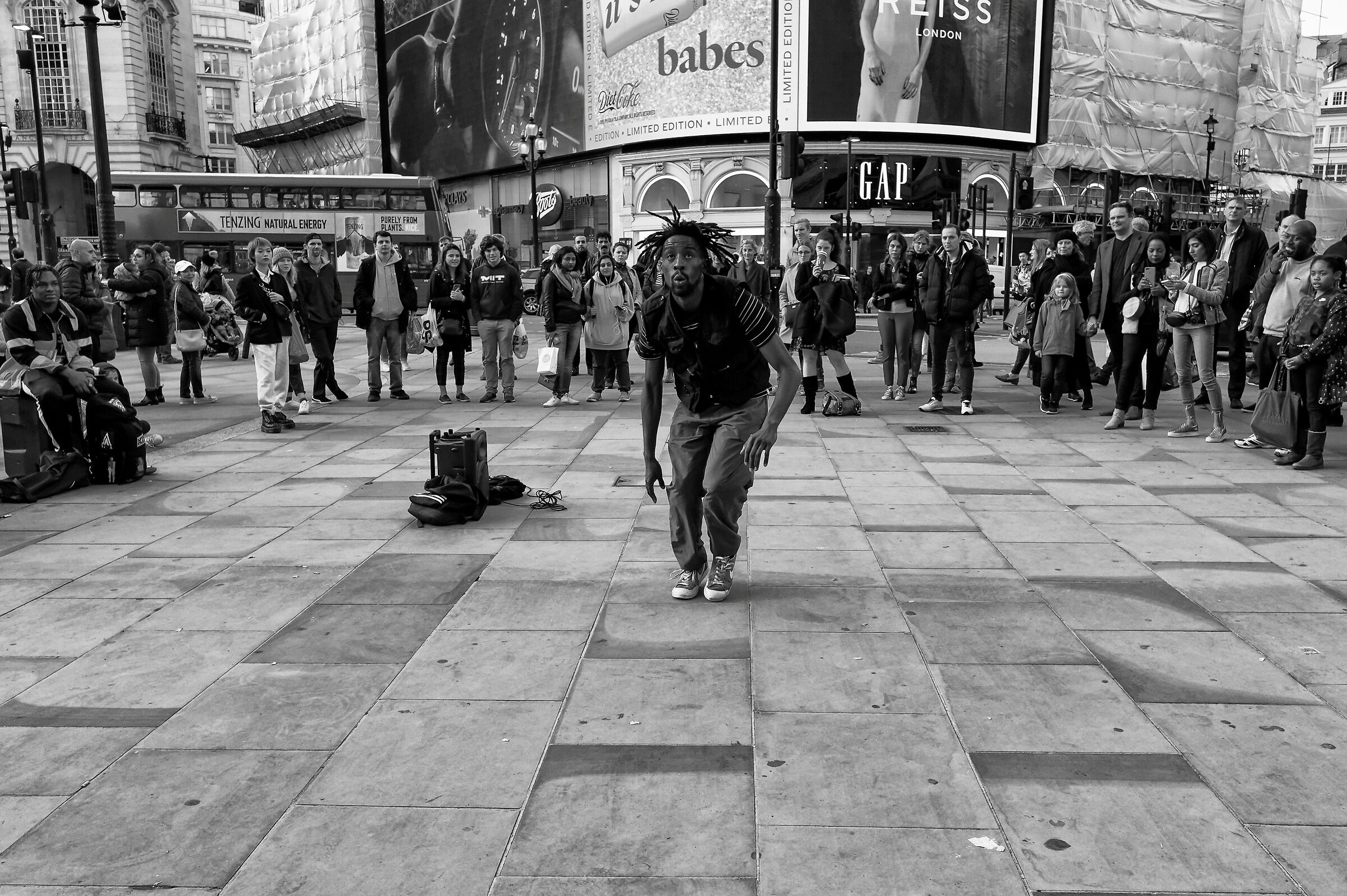 Saturday afternoon in Piccadilly Circus...