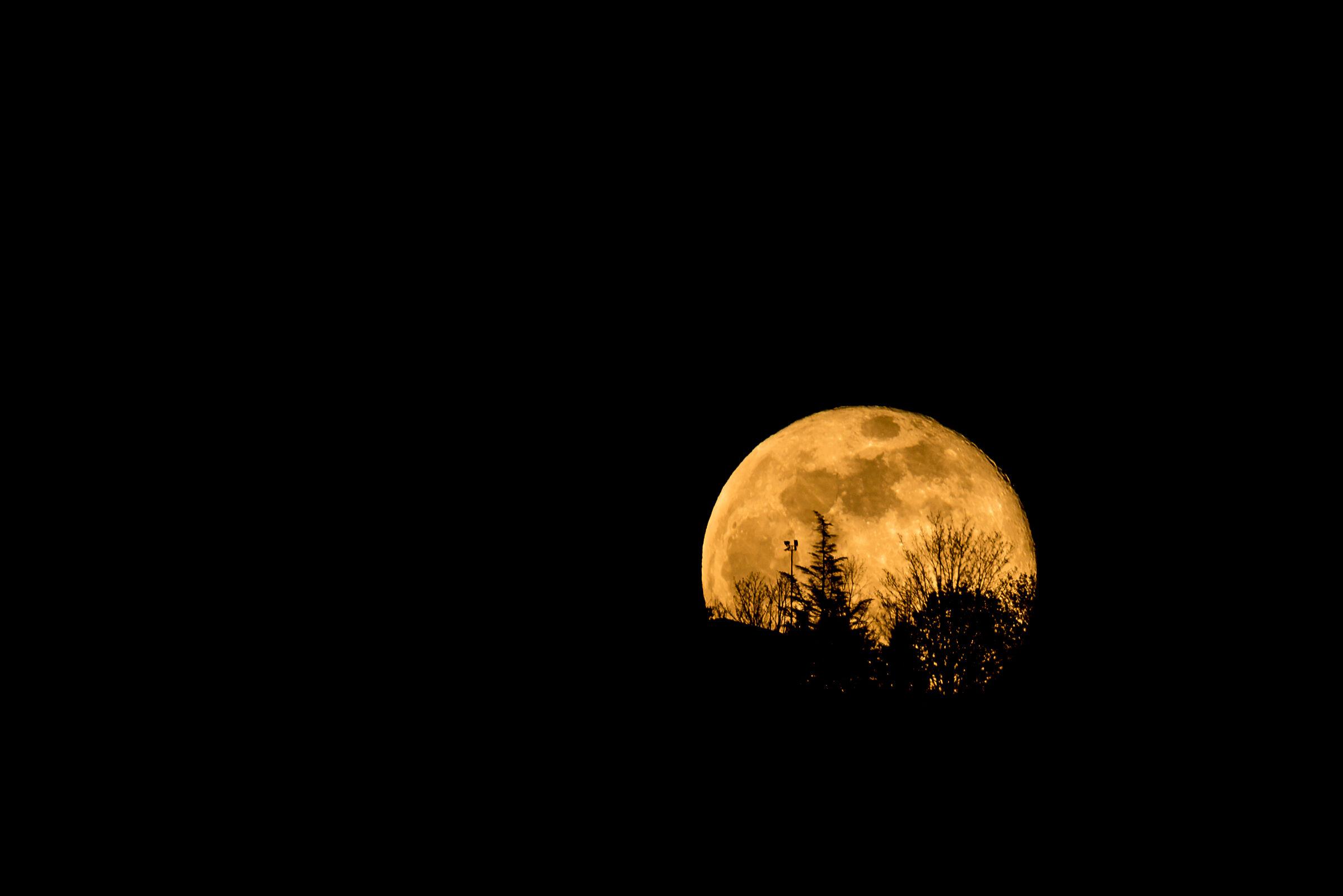 La super luna che sorge...