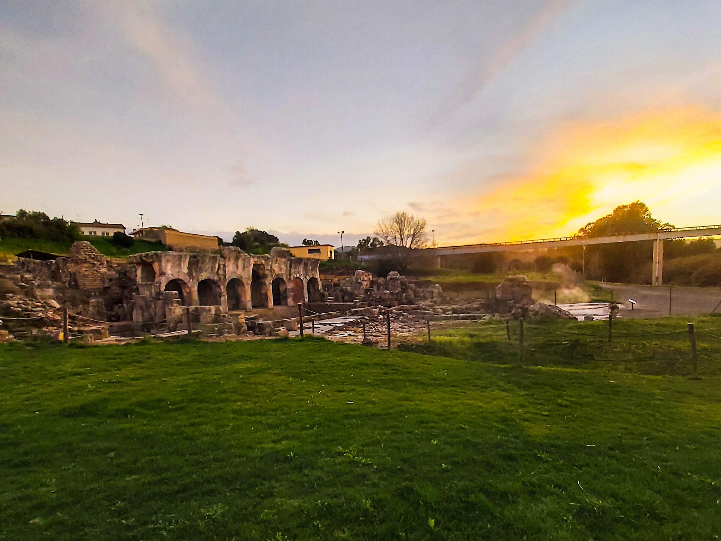 Sunset at The Fordongianus Baths ...