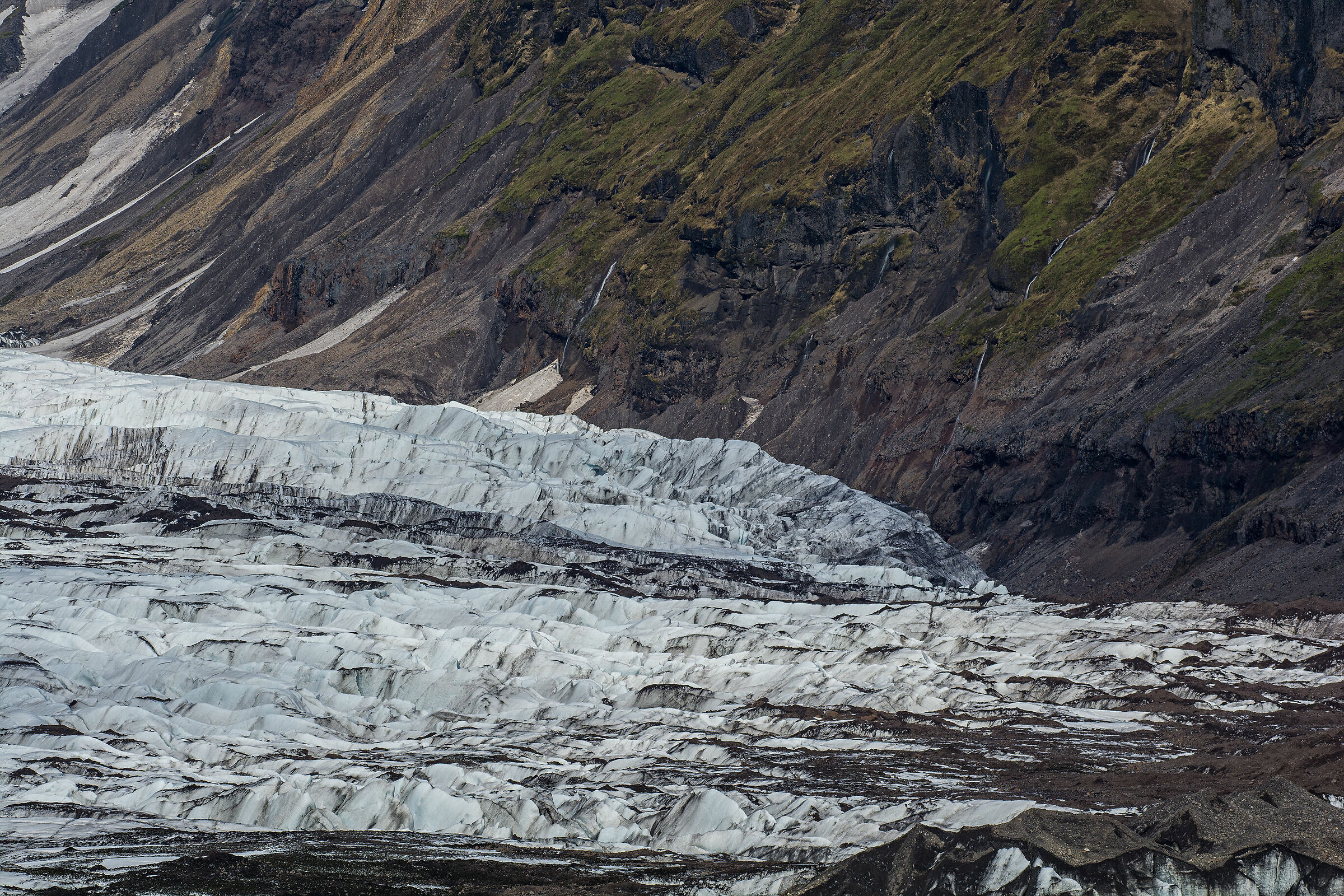 The edge of the glacier...
