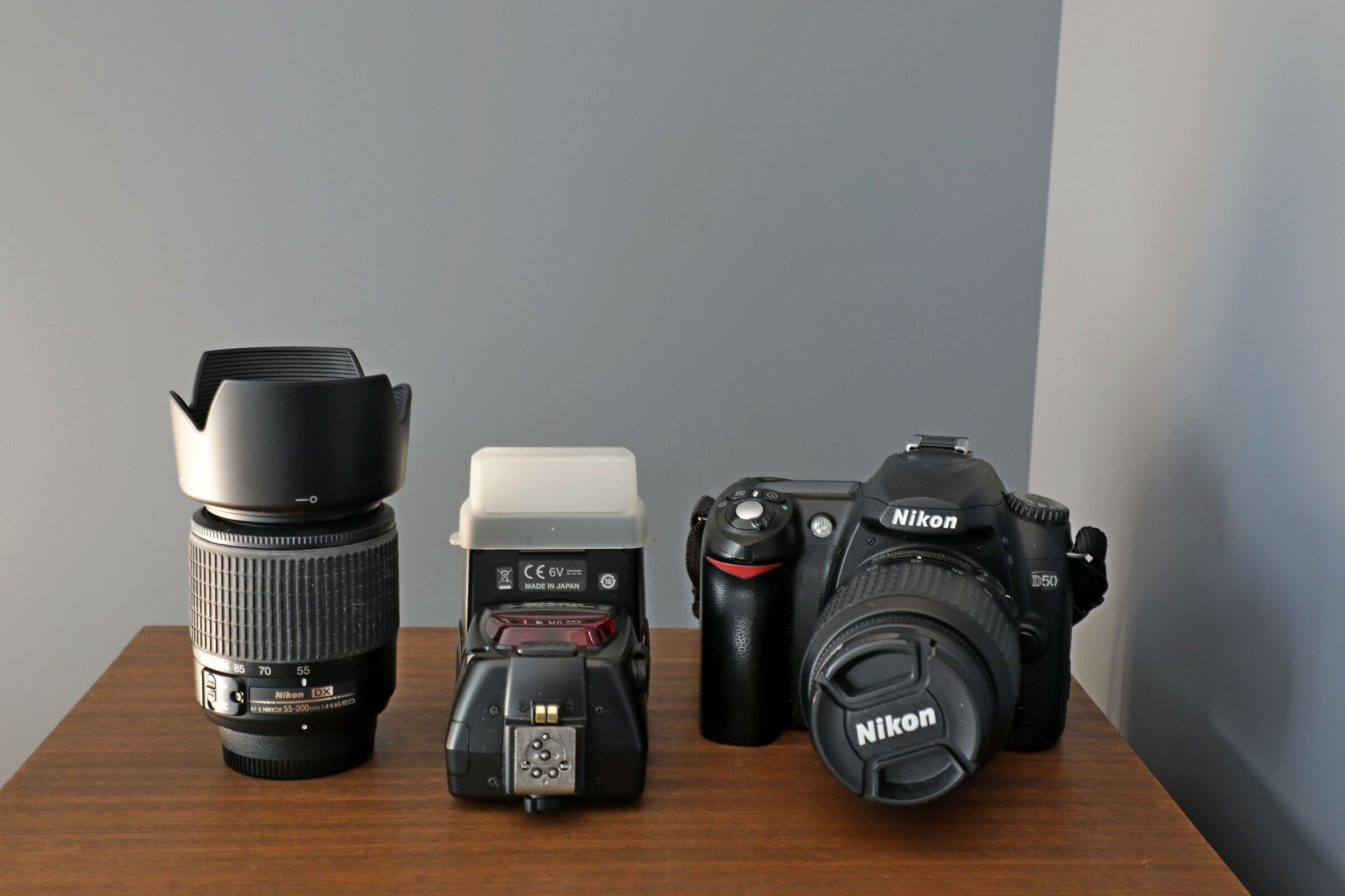Nikon D 50 con 18-55/55-200/flash Sb-800--...
