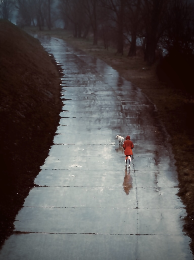 Red in the rain...