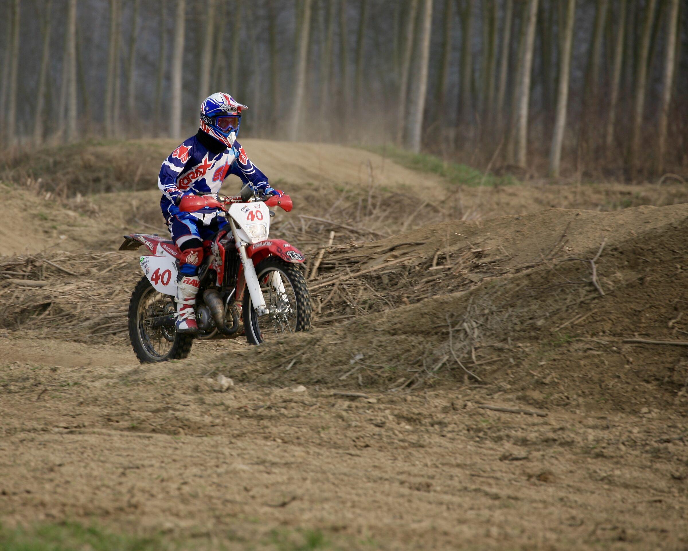 Again Luca, Alberto's son. Motocrossers. ...