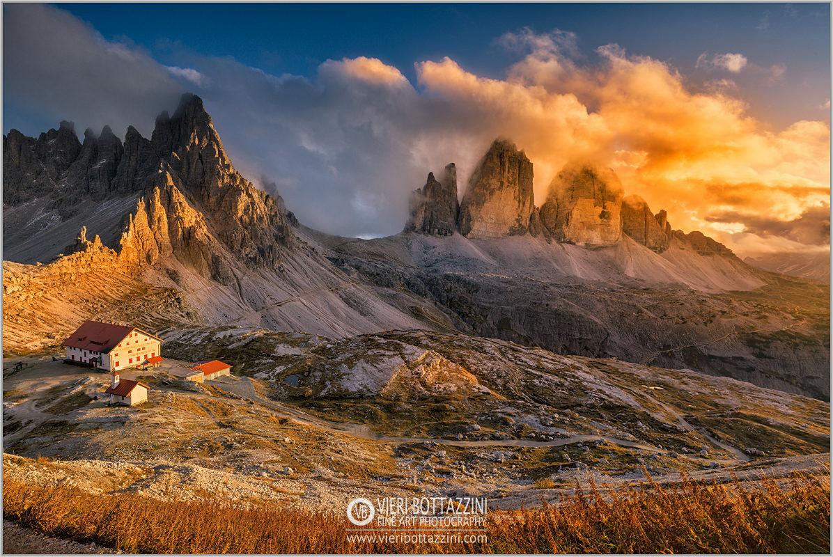 Three Lavaredo Peaks at Sunset...