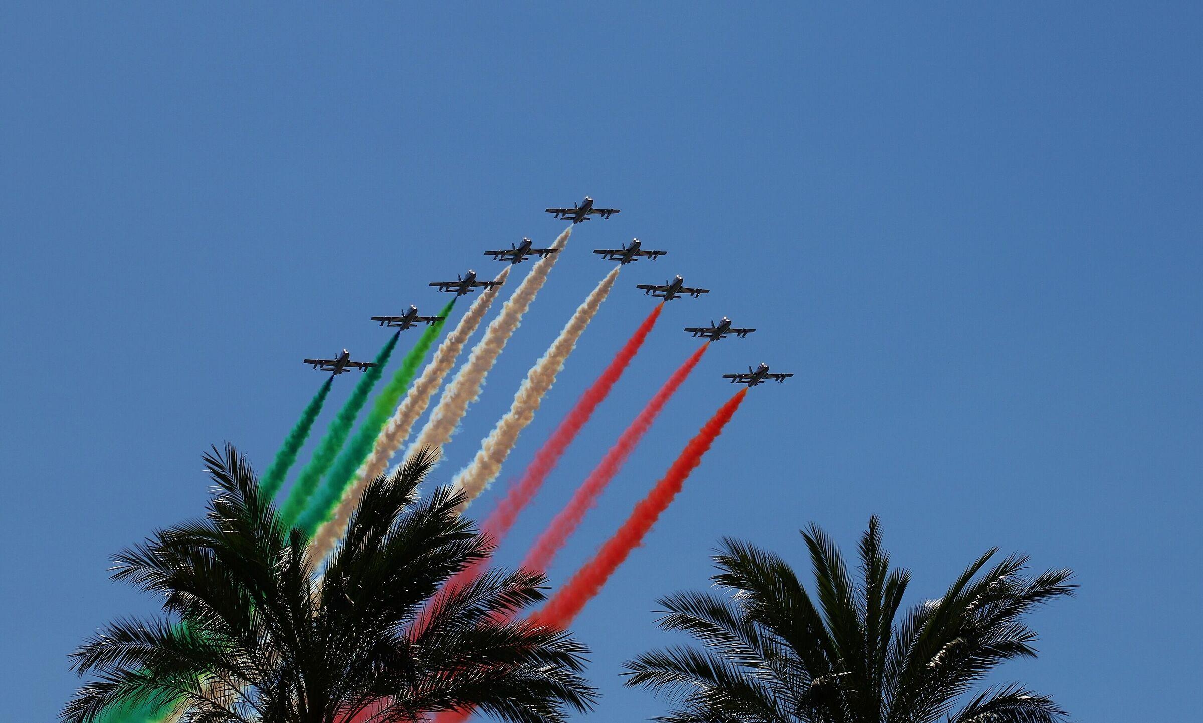 In the sky of Genoa...