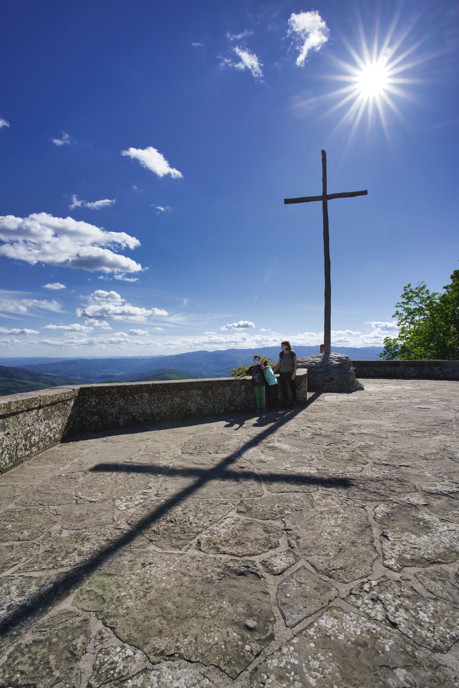 sulla cima del santuario della Verna...