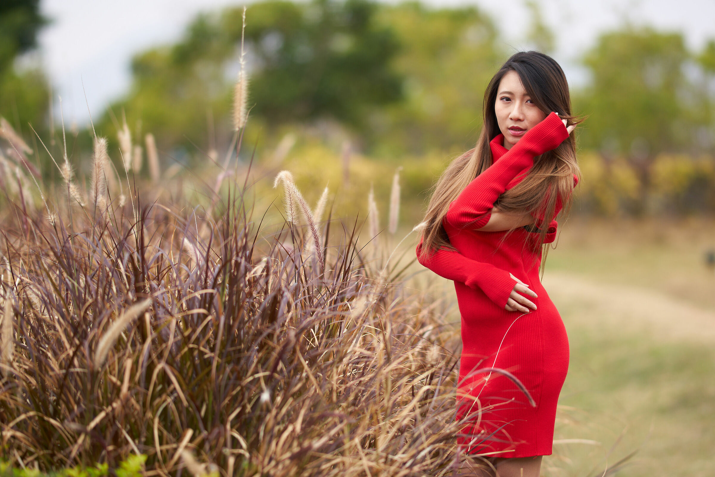 Red girl...