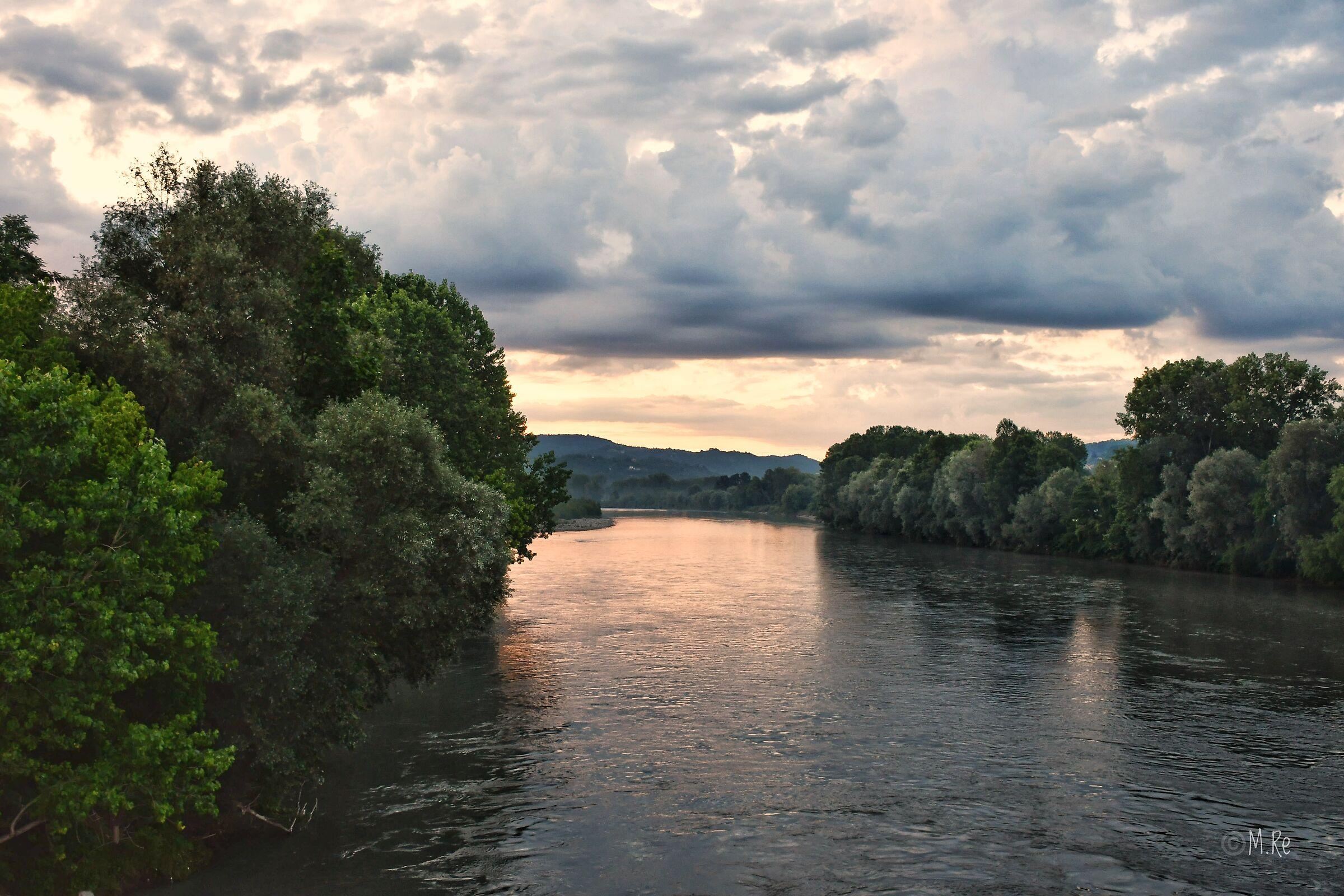 River Po in Seventh Turin...