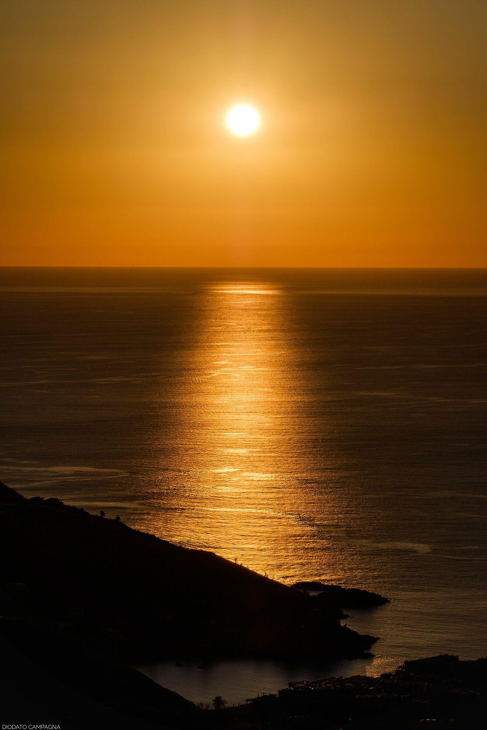 Sunset over the Tyrrhenian Sea...