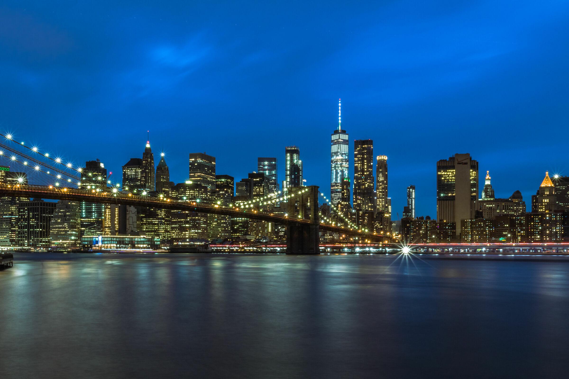 Blue time in Manhattan...