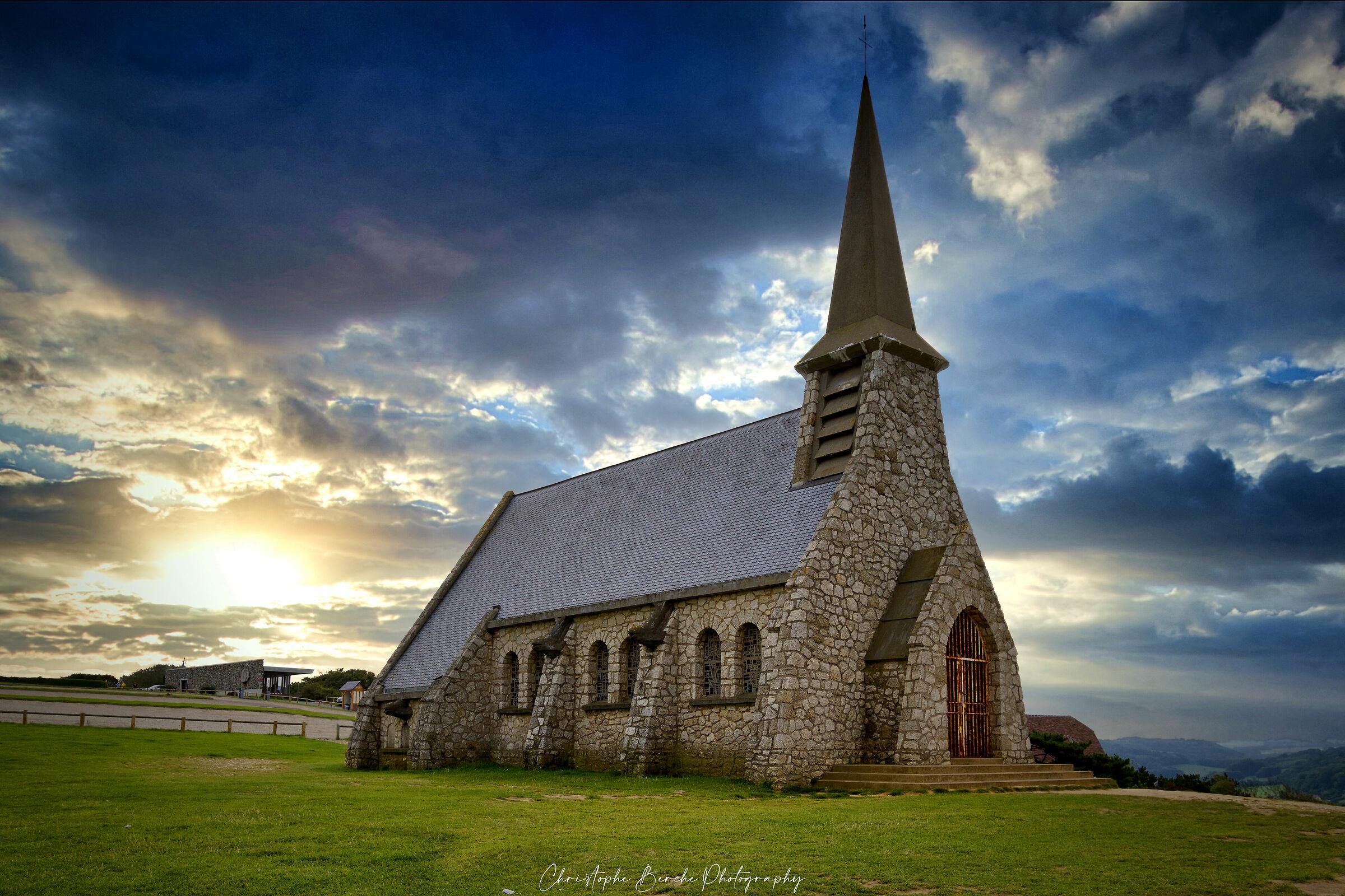 Notre-Dame-de-la-Garde Chapel ( Etretat, France )...