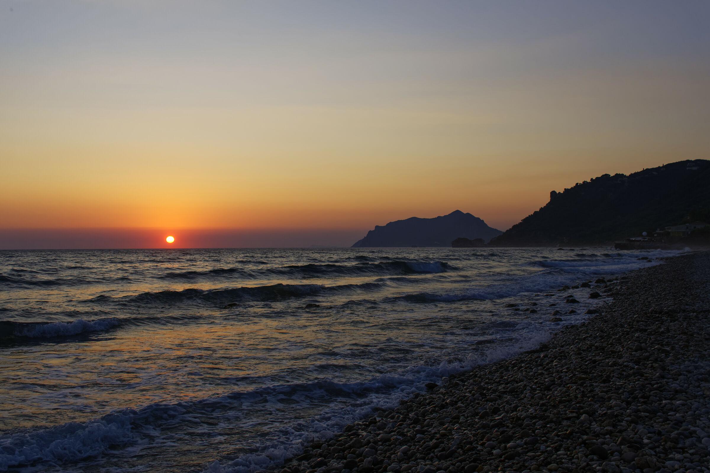 Sunset at Agios Gordios (Corfu)...