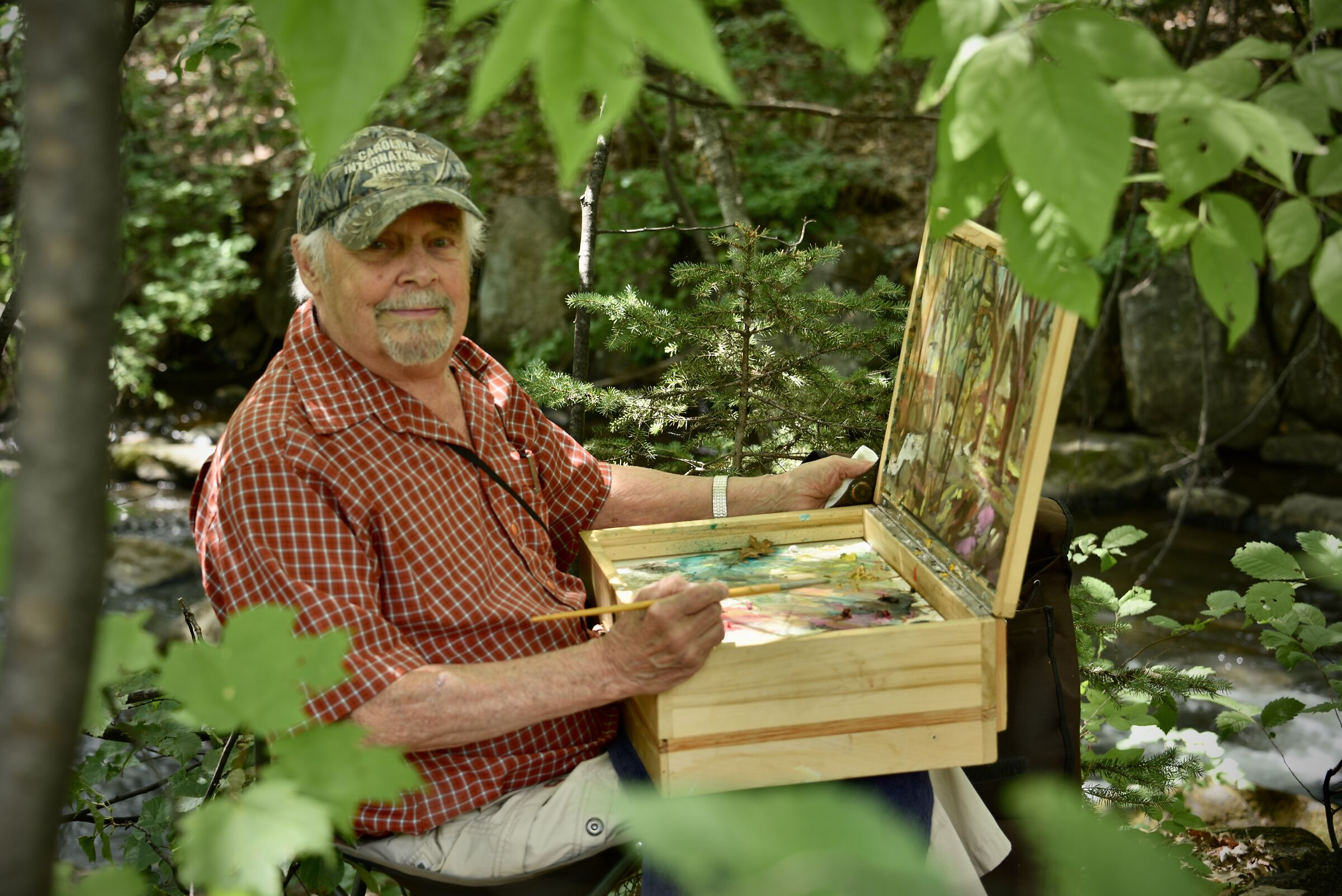 Painter, Jean-Guy Desrosiers from Quebec. 86 years old...