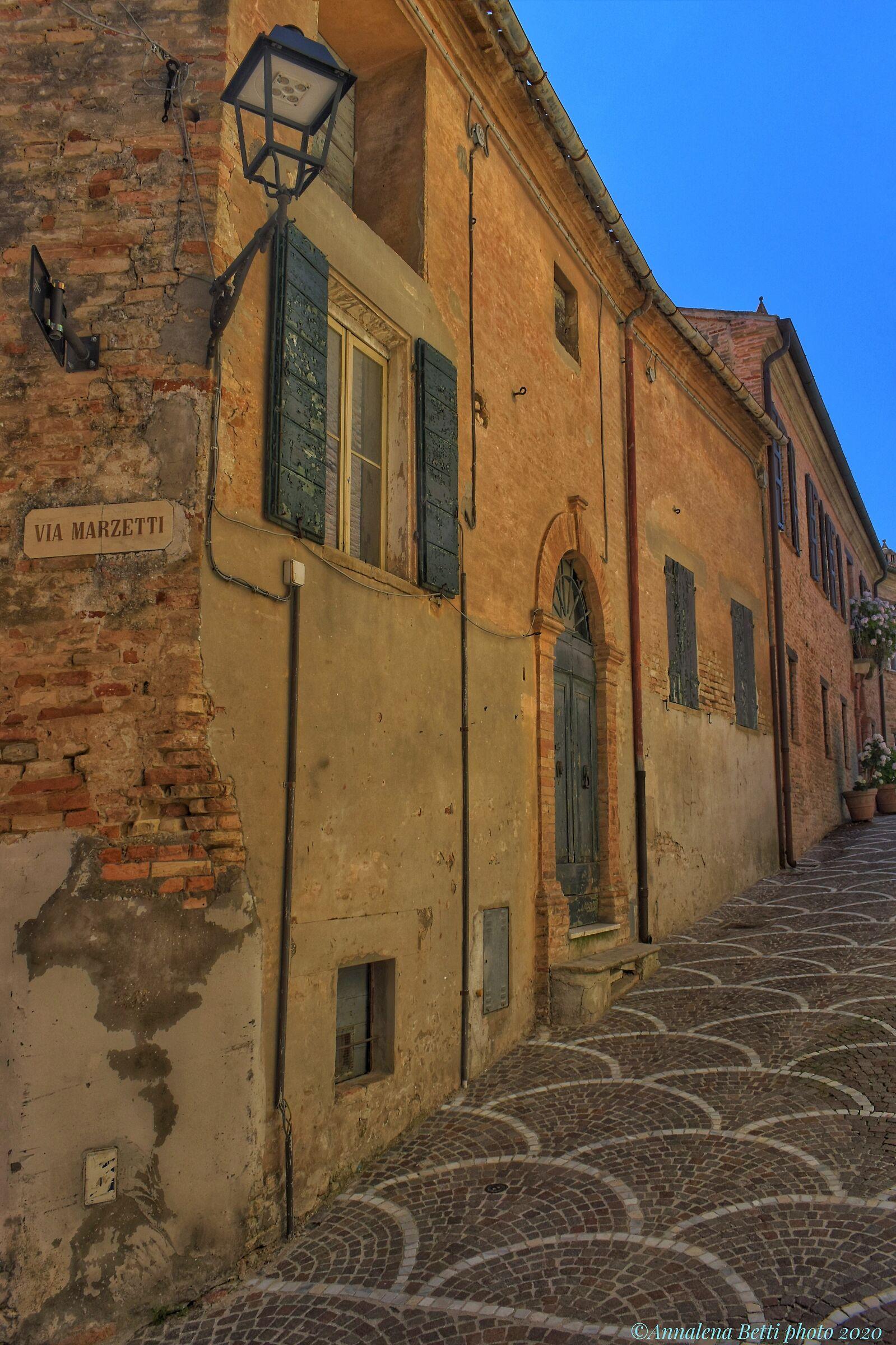 The small village of Fiorenzuola di Focara...