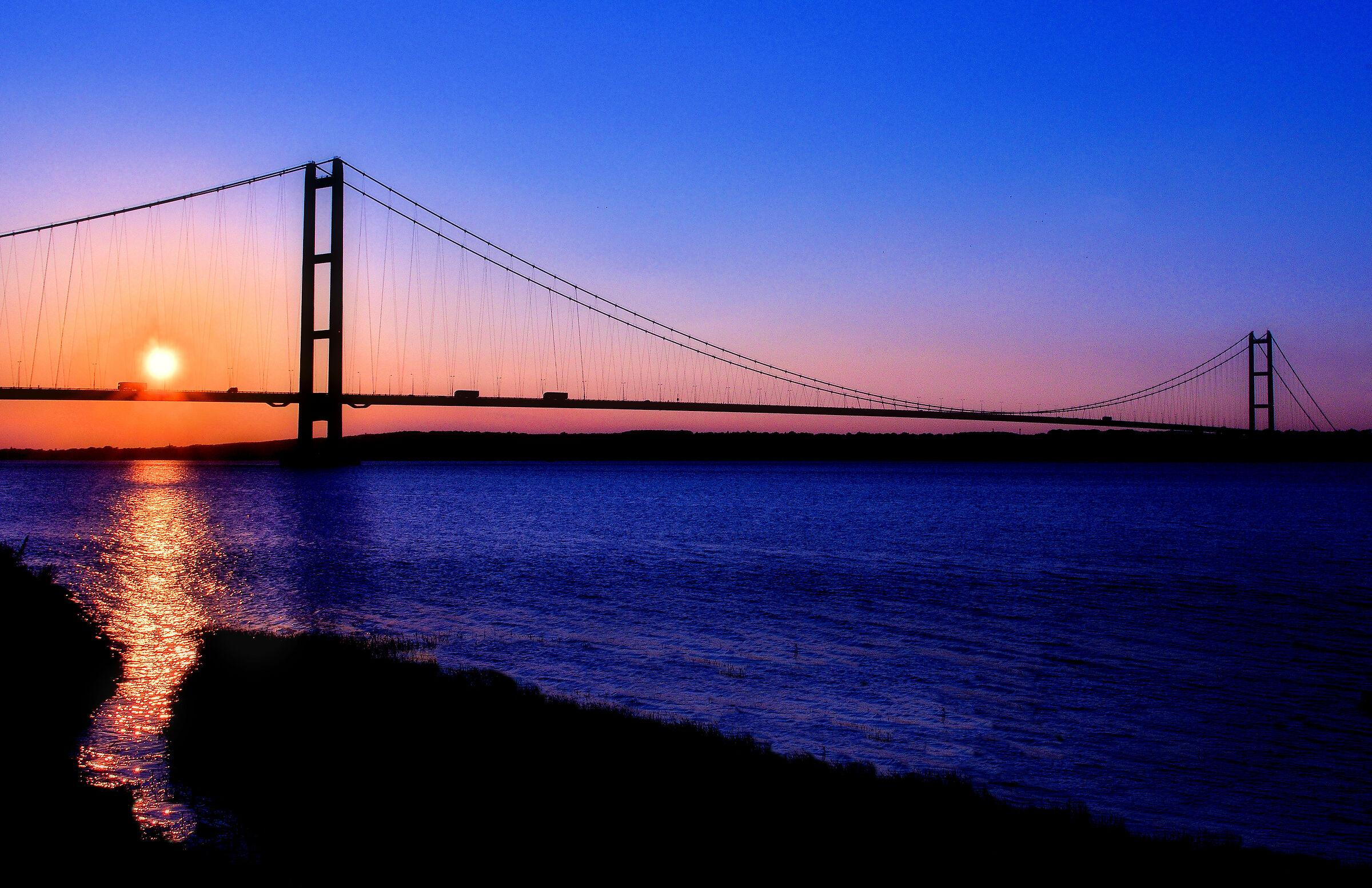 Sunset at Humber Bridge...
